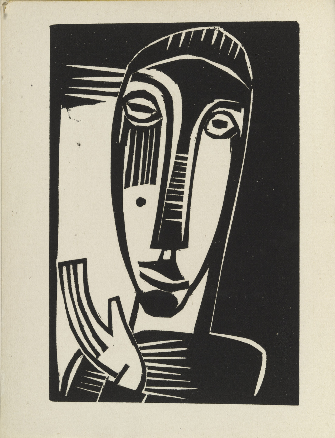 Karl Schmidt-Rottluff. Little Prophetess (Kleine Prophetin) from Das graphische Jahrbuch (The Print Yearbook). (1920, print executed 1919)