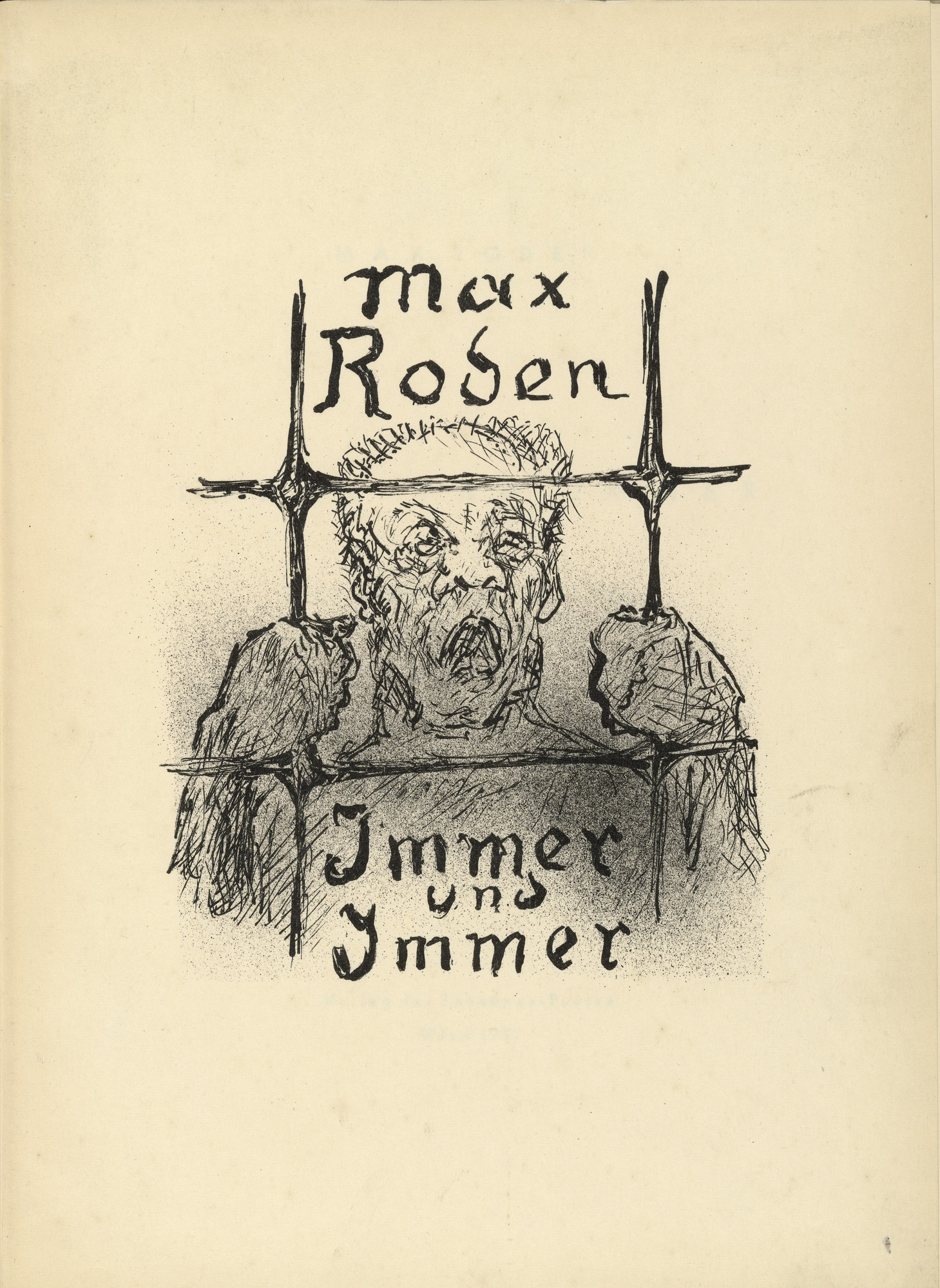 Alfred Kubin. Untitled (title page) from Immer und Immer (Again and Again). 1937