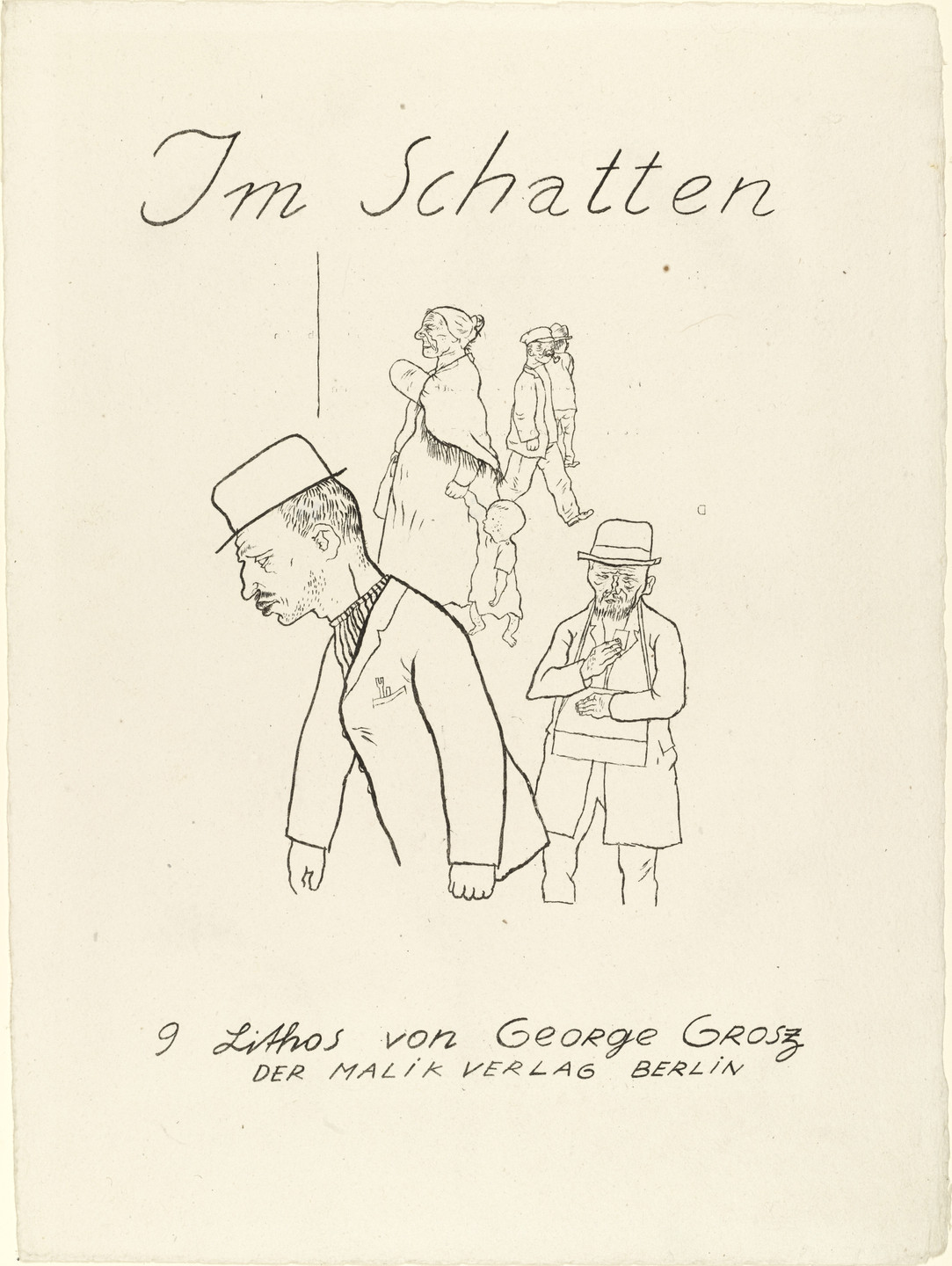 George Grosz. In the Shadows (Im Schatten). c. 1920, published 1921