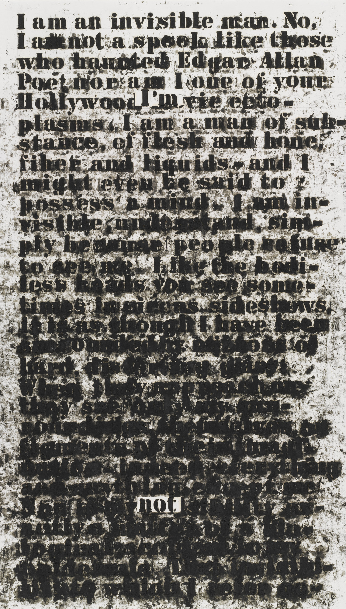 Glenn Ligon. Untitled (I am an invisible man). 1991