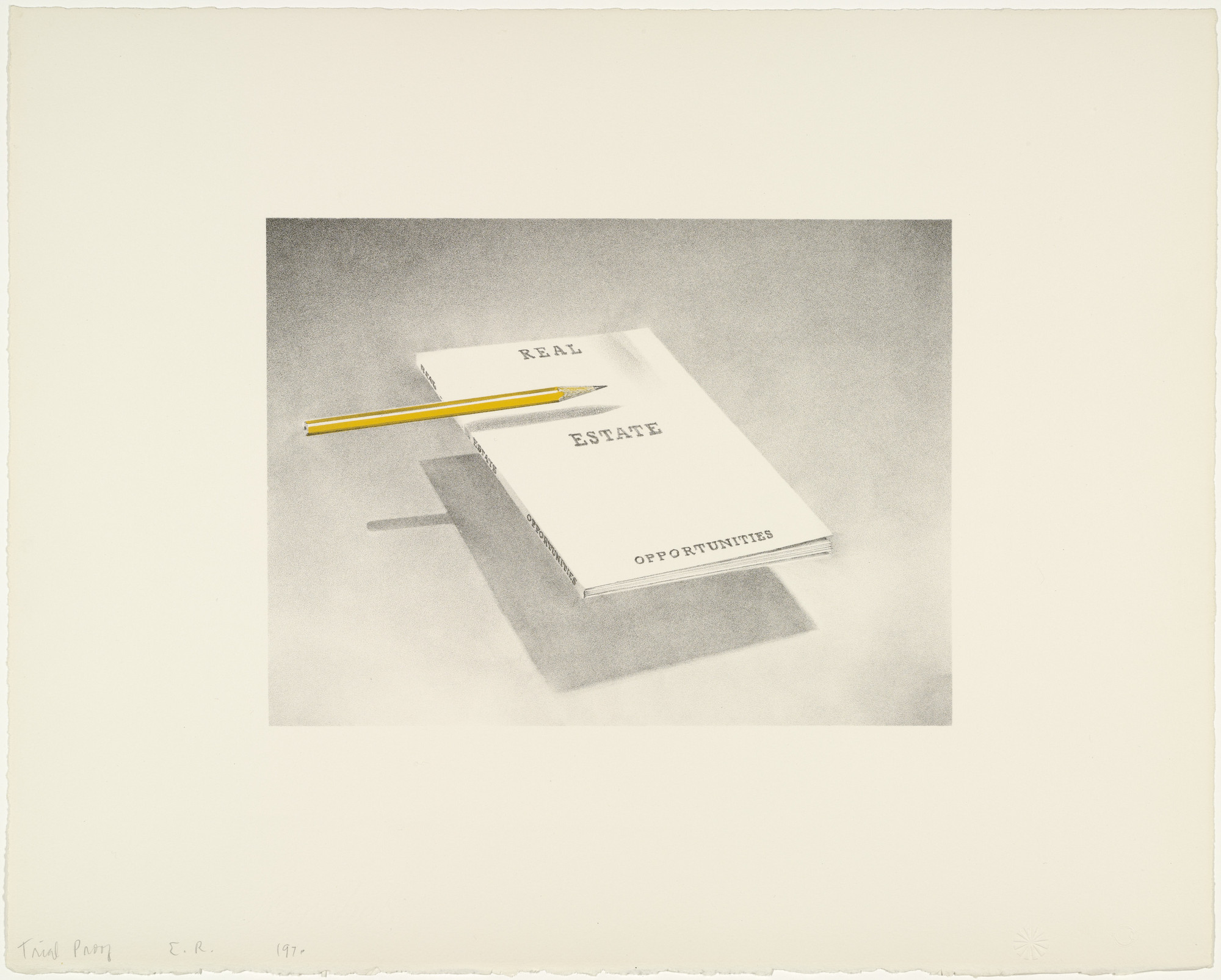 Edward Ruscha. Real Estate Opportunities from Book Covers. 1970