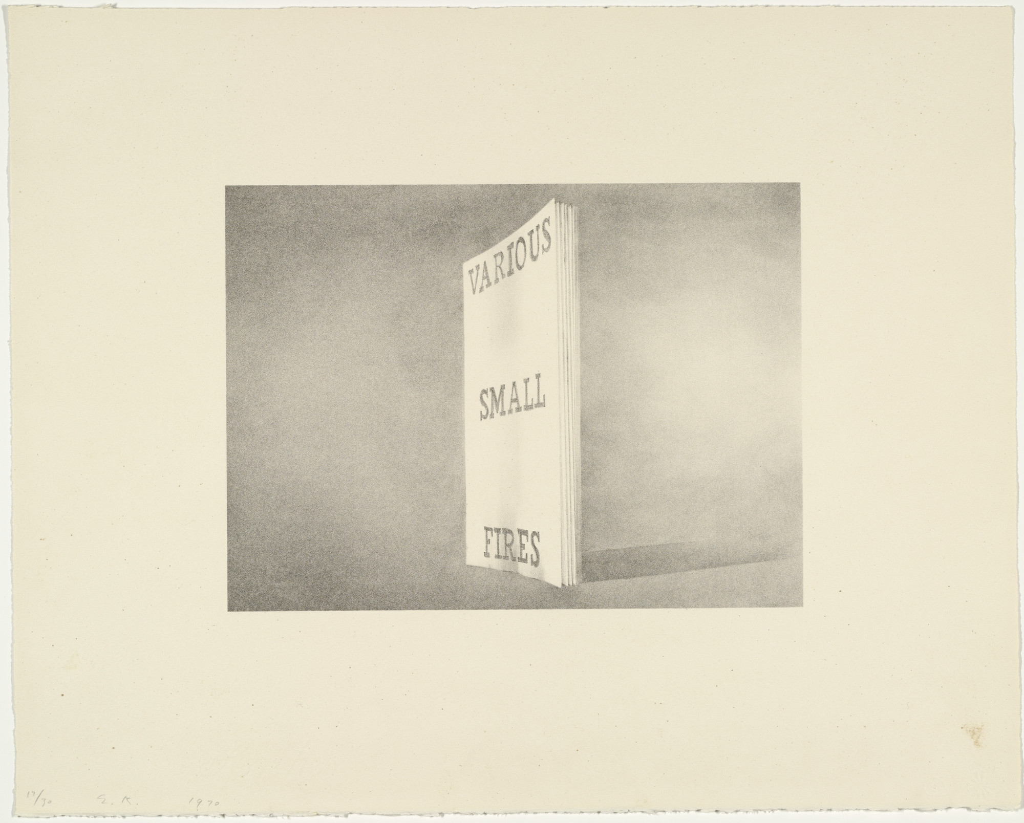 Edward Ruscha. Various Small Fires from Book Covers. 1970