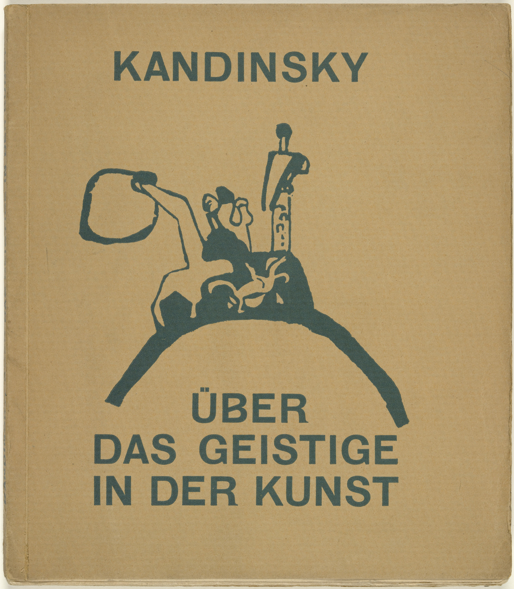 Vasily Kandinsky. Standing and Falling Tower with Rider (Stehender und Stürzender Turm mit Reiter) (cover) from Über das Geistige in der Kunst (Concerning the Spiritual Art). 1911