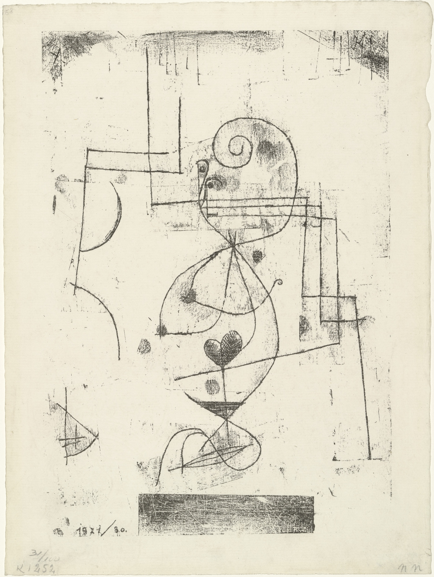 Paul Klee. Queen of Hearts (Herzdame) from the periodical Der Ararat. Glossen, Skizzen und Notizen zur Neuen Kunst vol. 2, no. 4 (April 1921). 1921