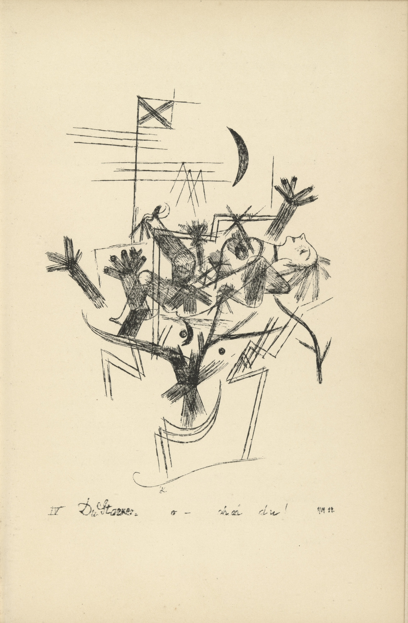 Paul Klee. You Strong One, O-Oh Oh You! (Du Starker - o - ohoh du!) from Potsdamer Platz oder Die Nächte des neuen Messias. Ekstatische Visionen (Potsdamer Platz or The Nights of the New Messiah. Ecstatic Visions). 1919