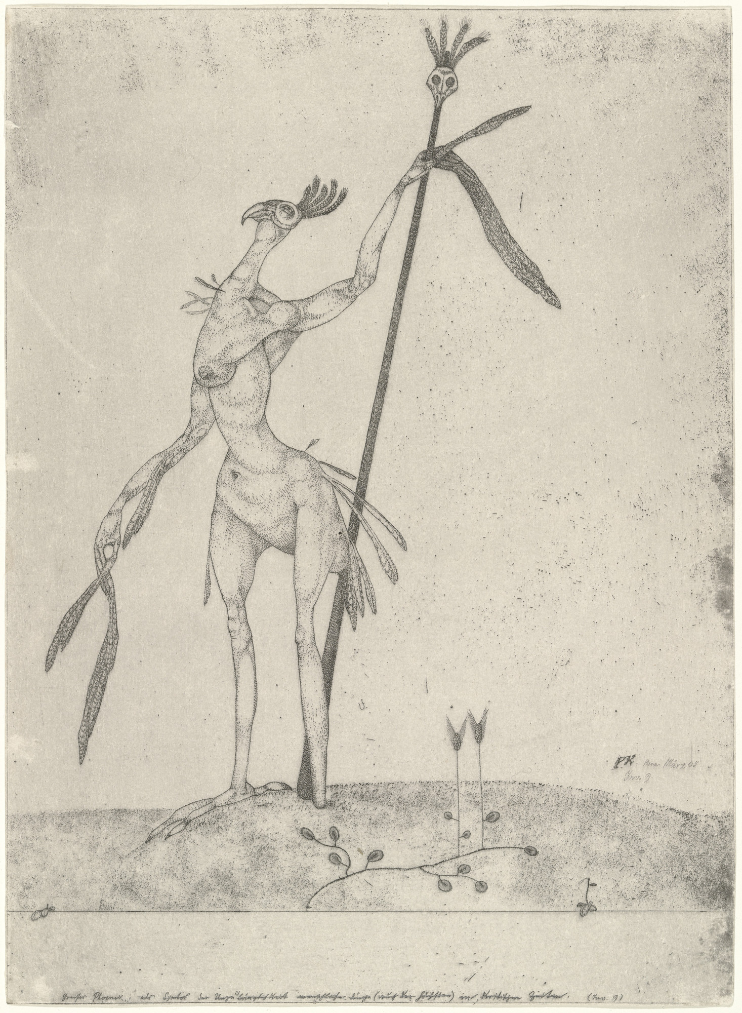 Paul Klee. Aged Phoenix (Greiser Phoenix) from the series Inventions (Inventionen). 1905