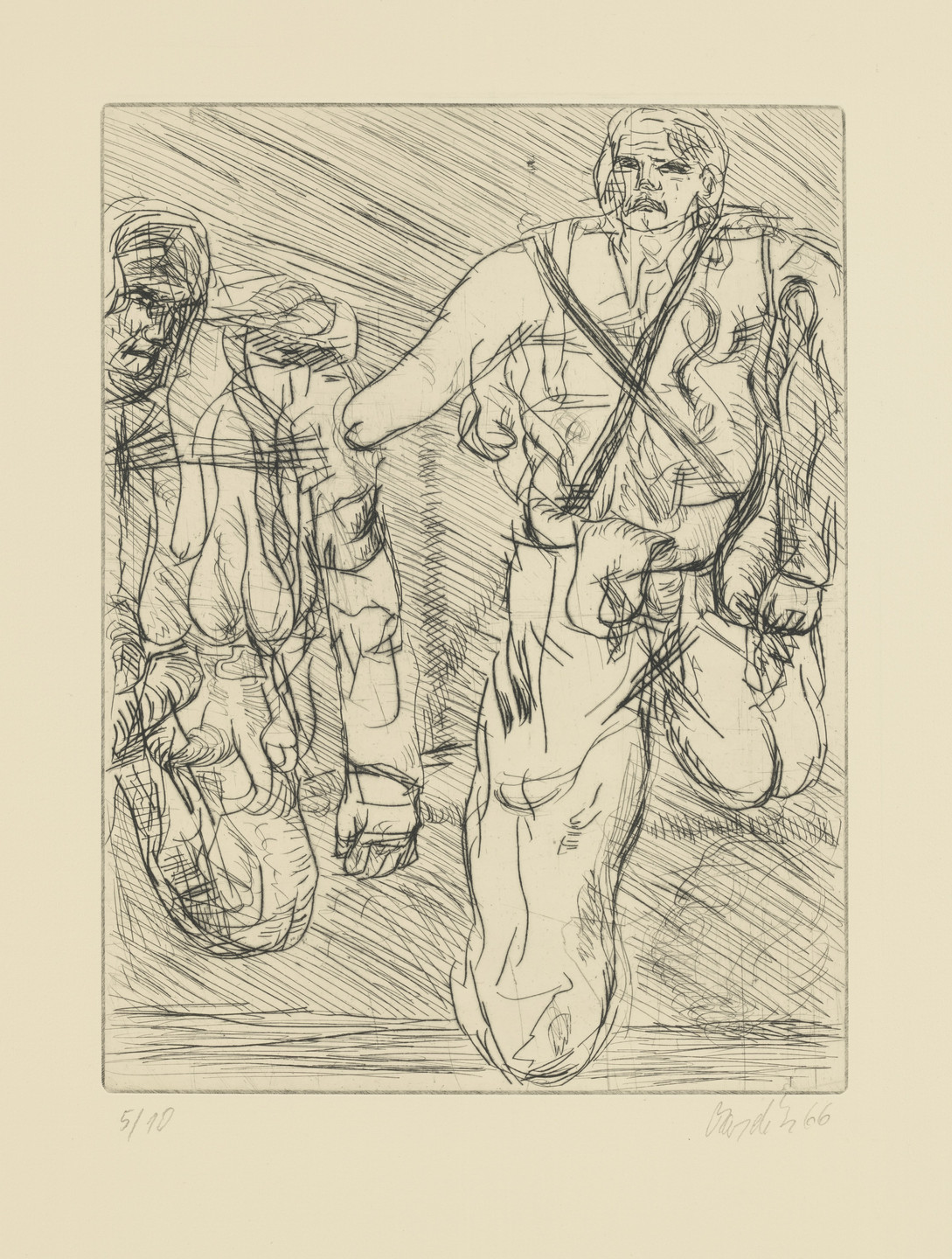 Georg Baselitz. Two Soldiers (Zwei Soldaten). 1966–67, published 1974