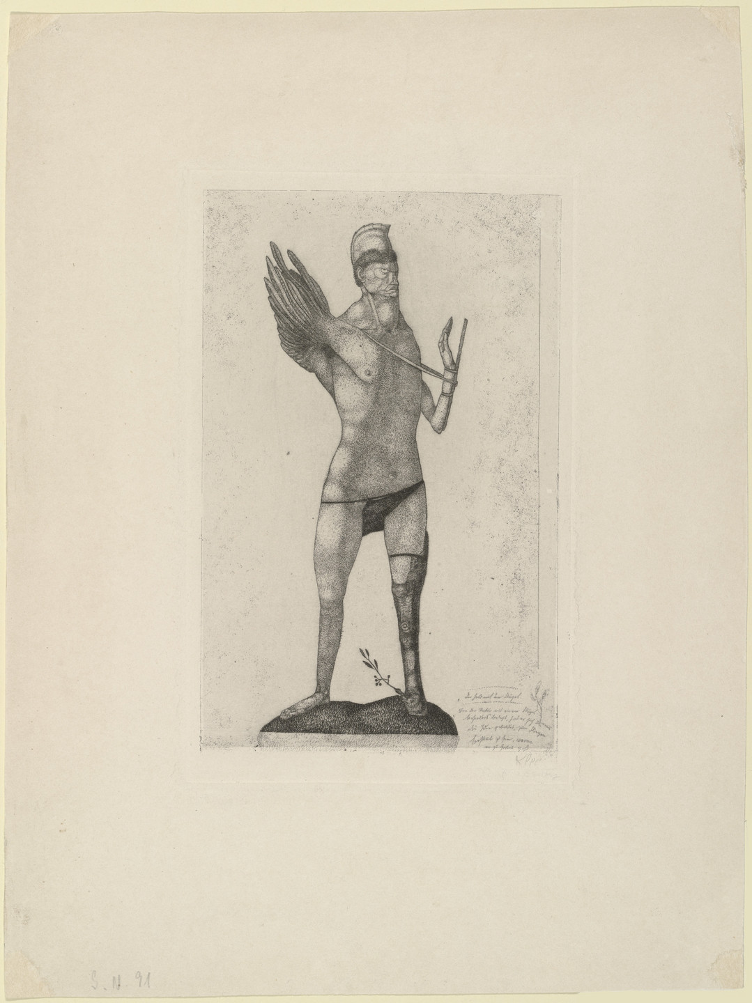 Paul Klee. Der Held mit dem Flügel (The Hero with the Wing) from the series Inventions (Inventionen). 1905