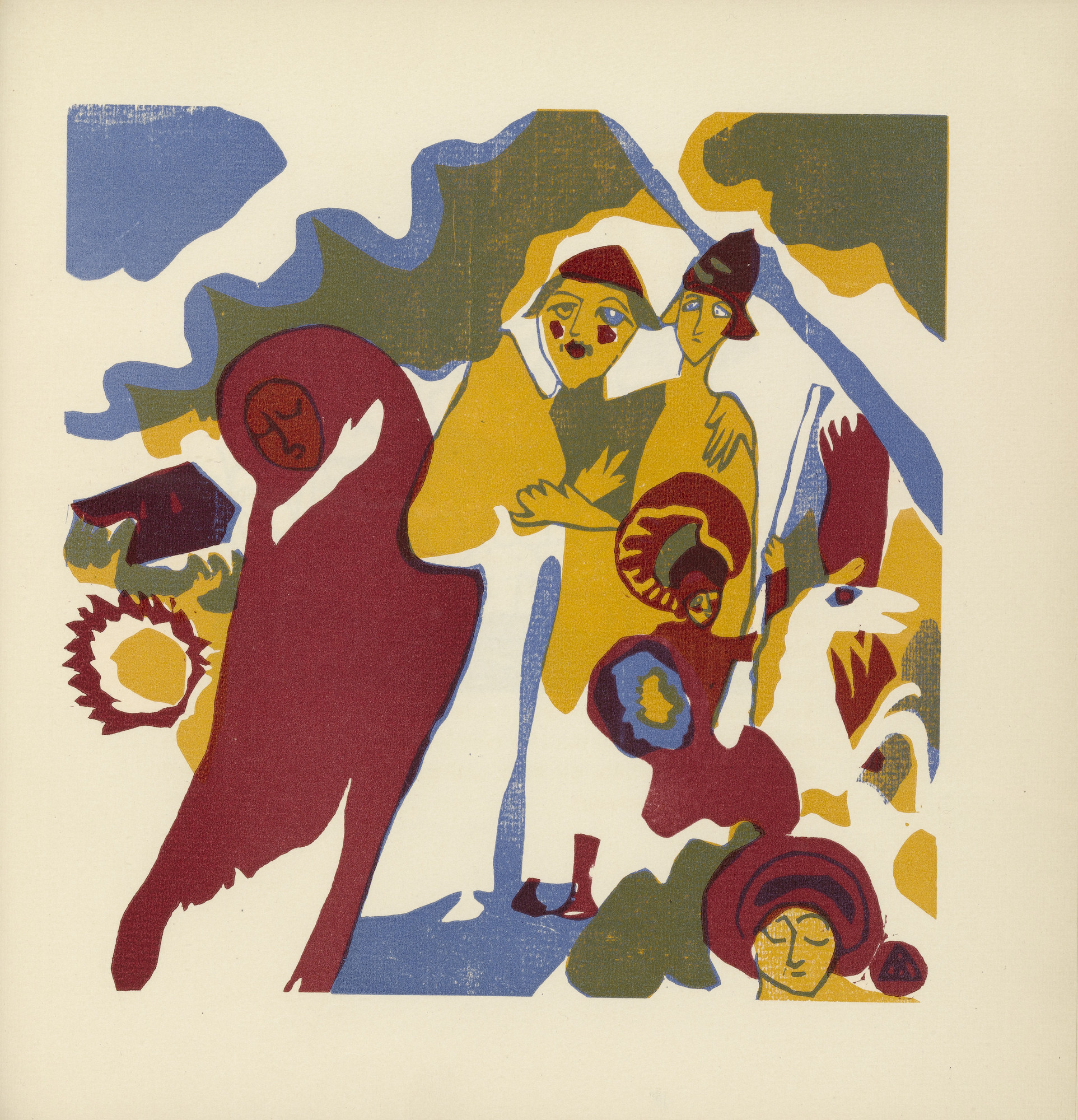 Vasily Kandinsky. All Saints' Day (Allerheiligen) (plate, folio 46) from Klänge (Sounds). (1913)