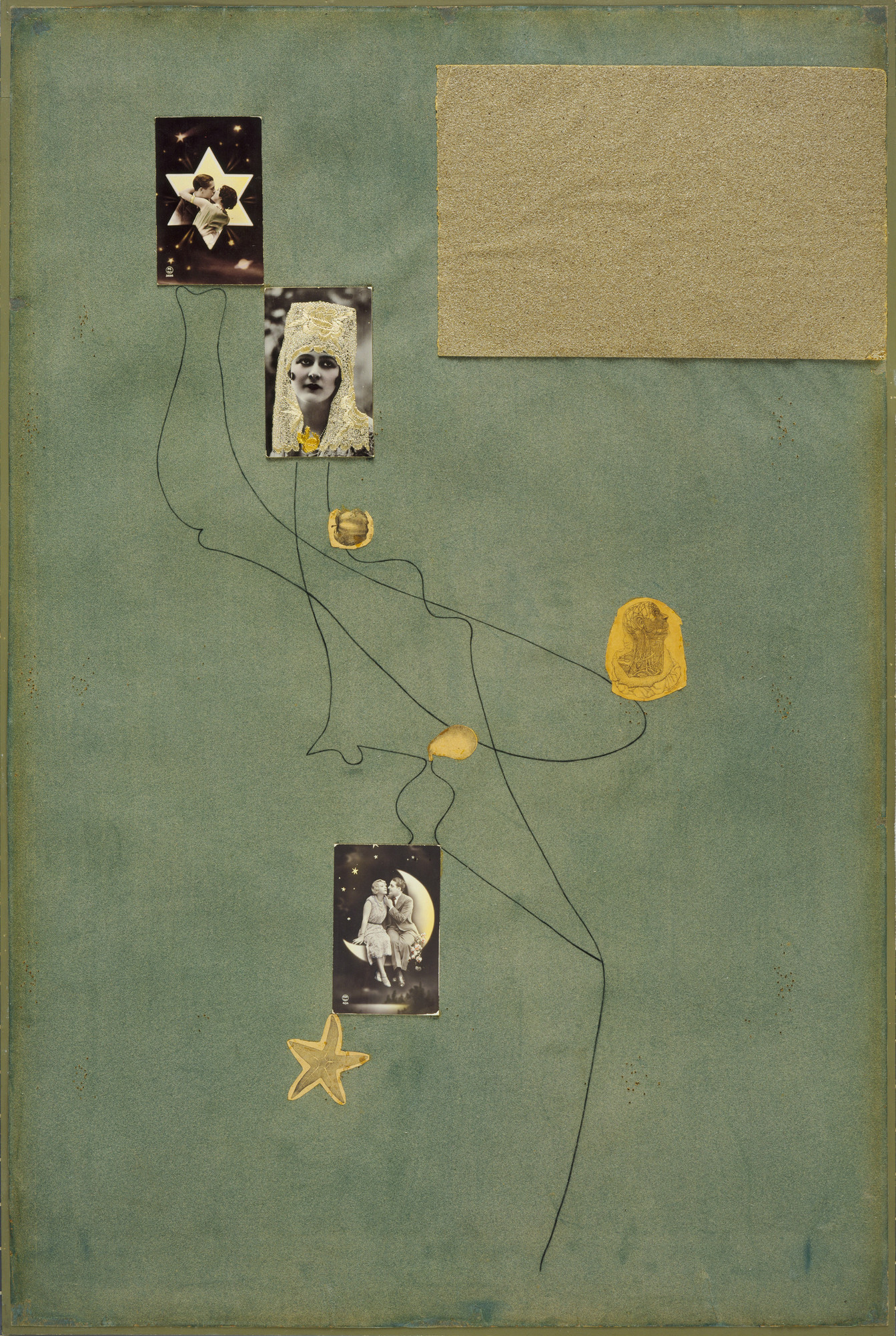 Joan Miró. Drawing-Collage. 1933