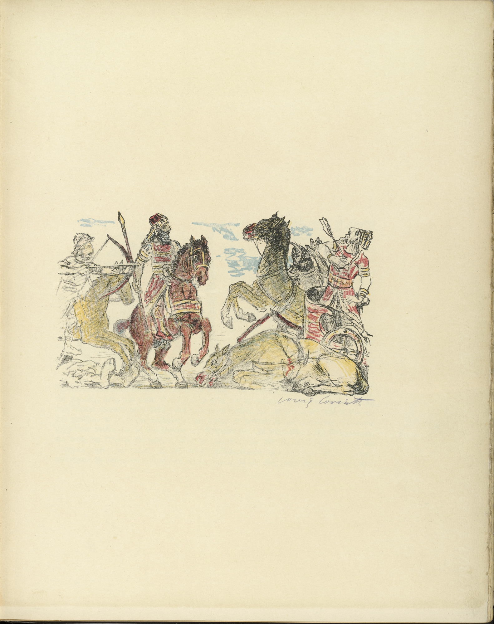 Lovis Corinth. Warrior Scene (Kriegerszene) (plate, folio 4) from Das Buch Judith (The Book of Judith). 1910
