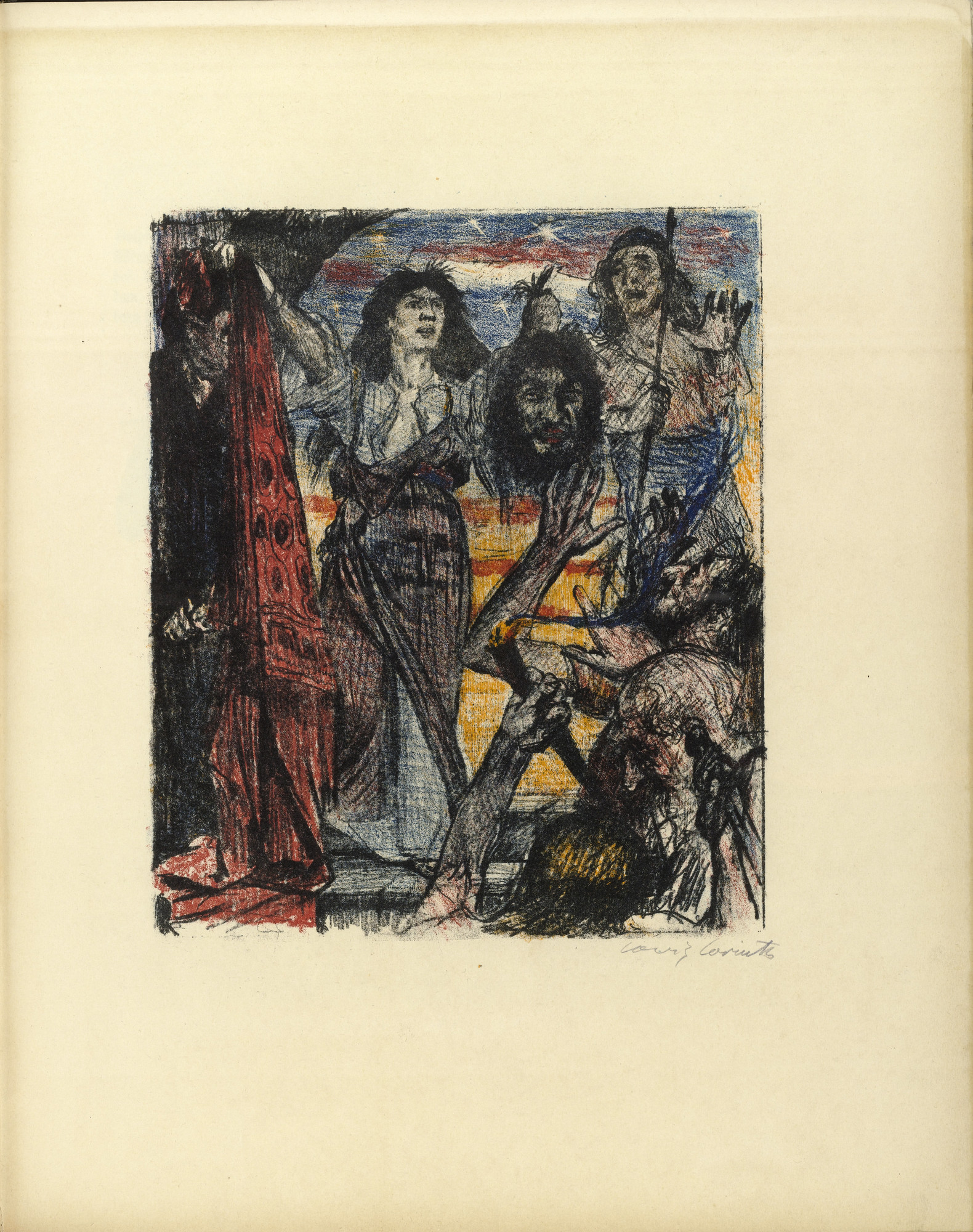 Lovis Corinth. The Return of Judith (Judiths Rückkehr) (plate, folio 27) from Das Buch Judith (The Book of Judith). 1910