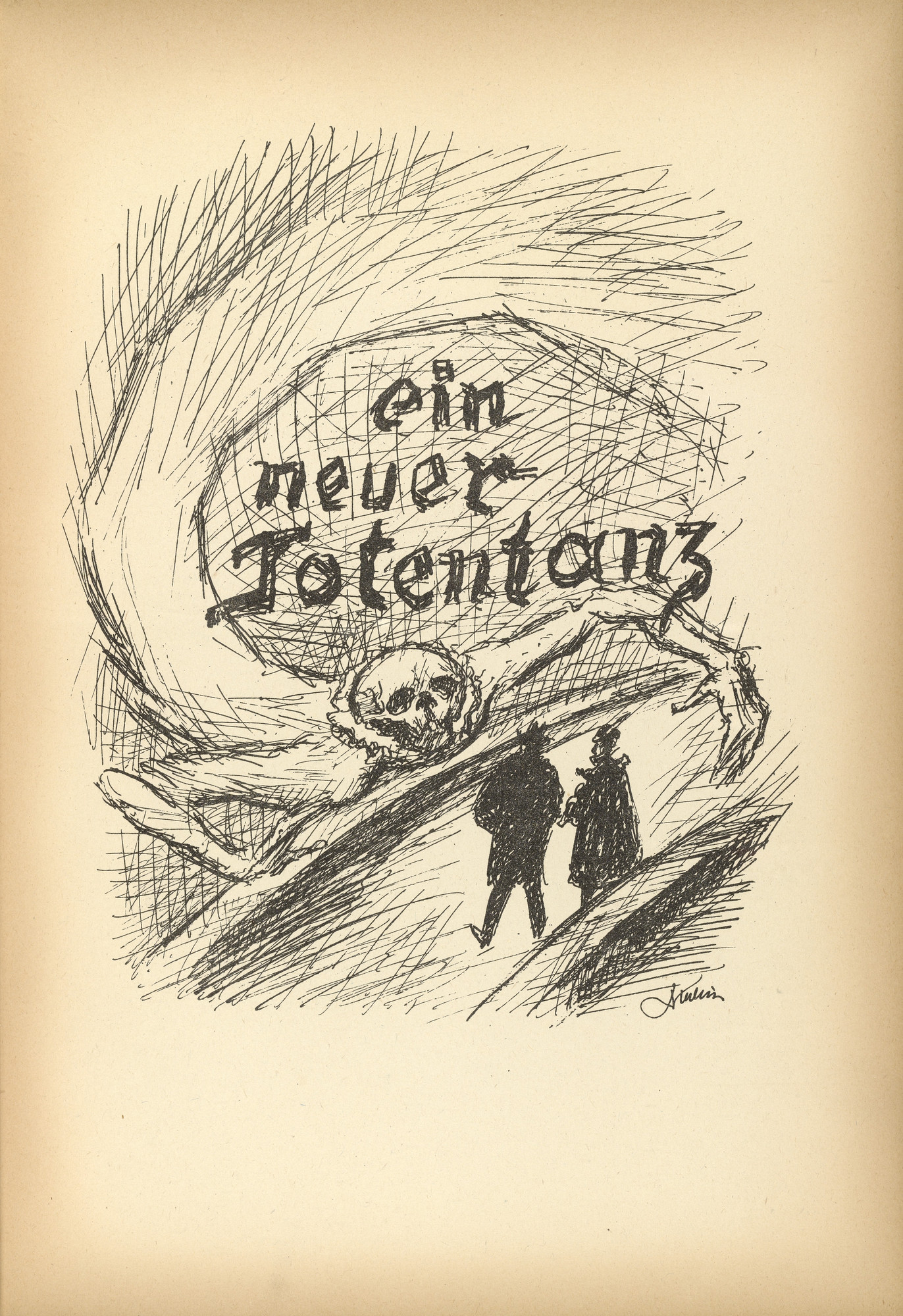 Alfred Kubin. The Comet (Der Komet) from Ein neuer Totentanz (A New Dance of Death). 1947 (reproduced drawing executed 1938)