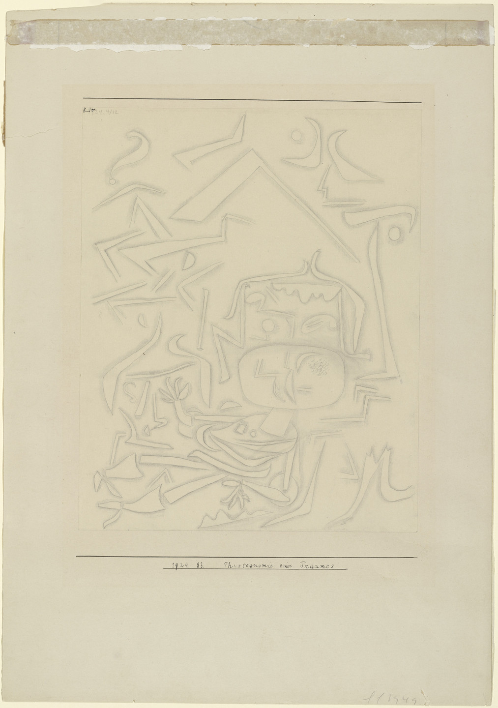 Paul Klee. Physiognomy of a Dream (Physiognomie eines Traumes). 1924