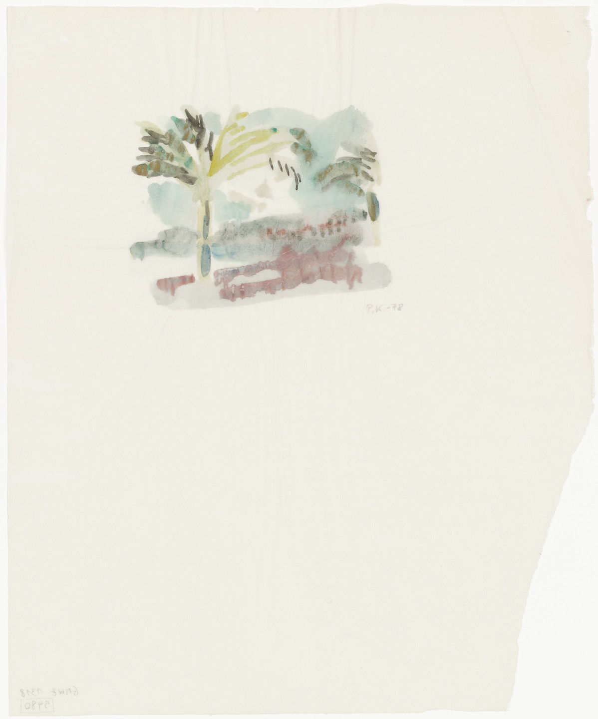 Per Kirkeby. Untitled (landscape). (1978)