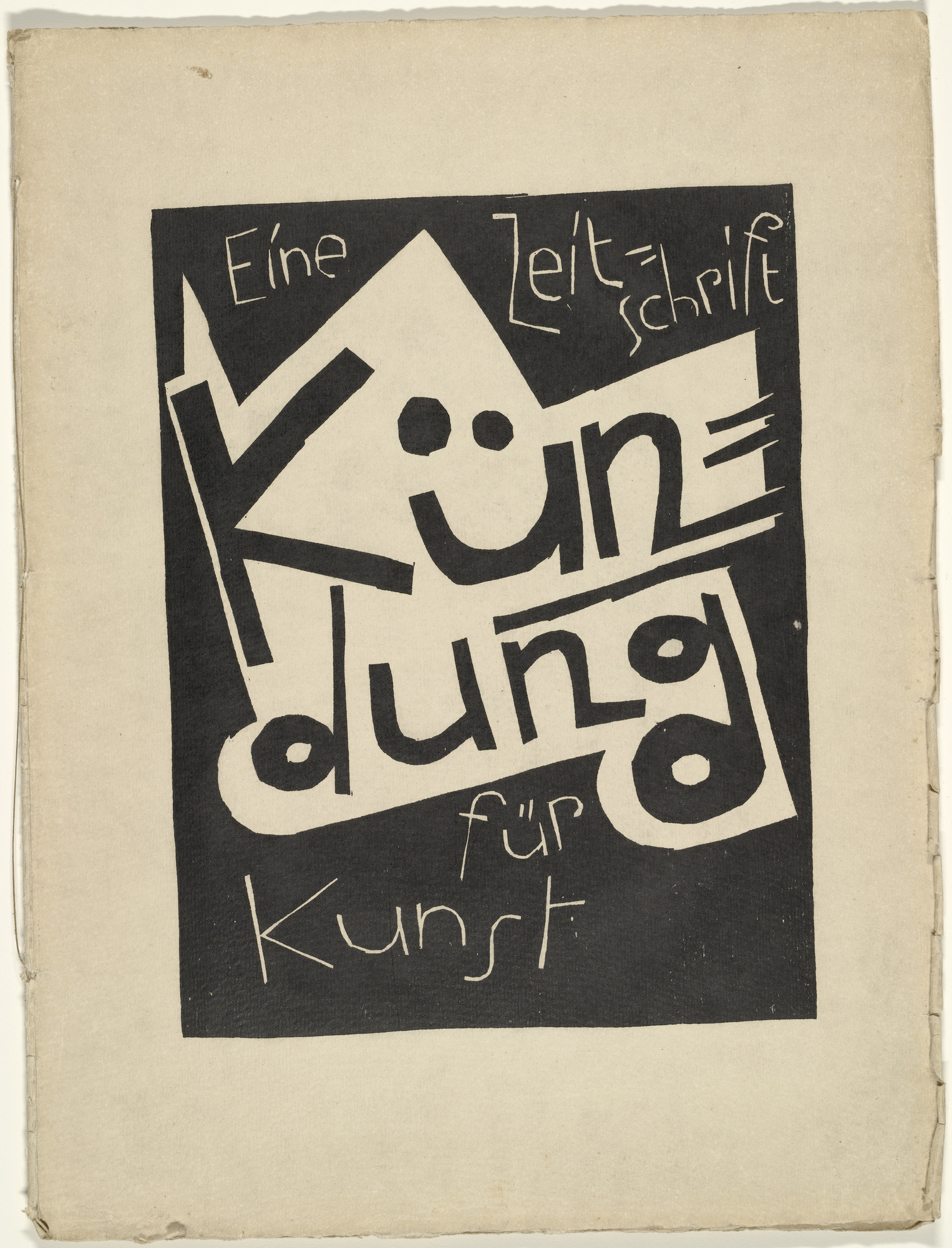 Karl Schmidt-Rottluff. Cover from the periodical Kündung, vol. 1, no. 1 (January 1921). 1921 (executed 1920)