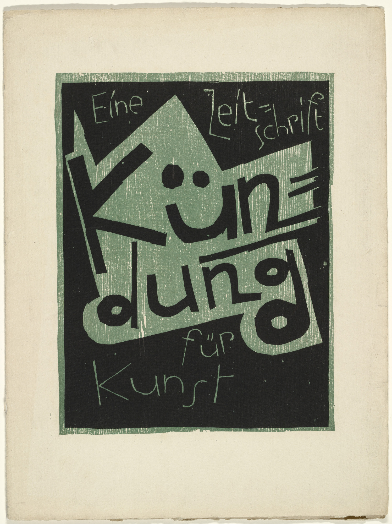Karl Schmidt-Rottluff. Cover from the periodical Kündung, vol. 1, no. 3 (March 1921). 1921 (executed 1920)