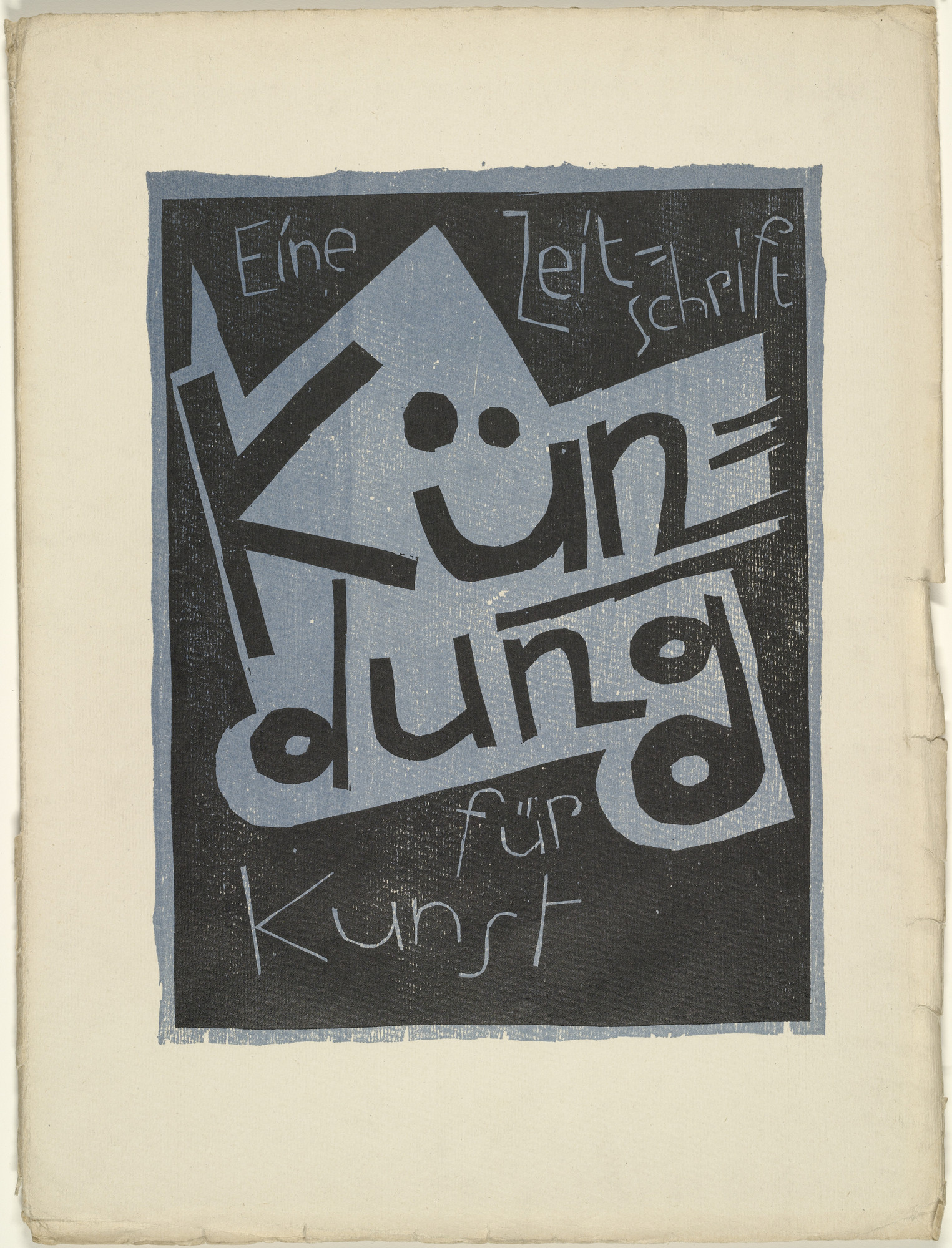 Karl Schmidt-Rottluff. Cover from the periodical Kündung, vol. 1, no. 4, 5, 6 (April, May, June 1921). 1921 (executed 1920)