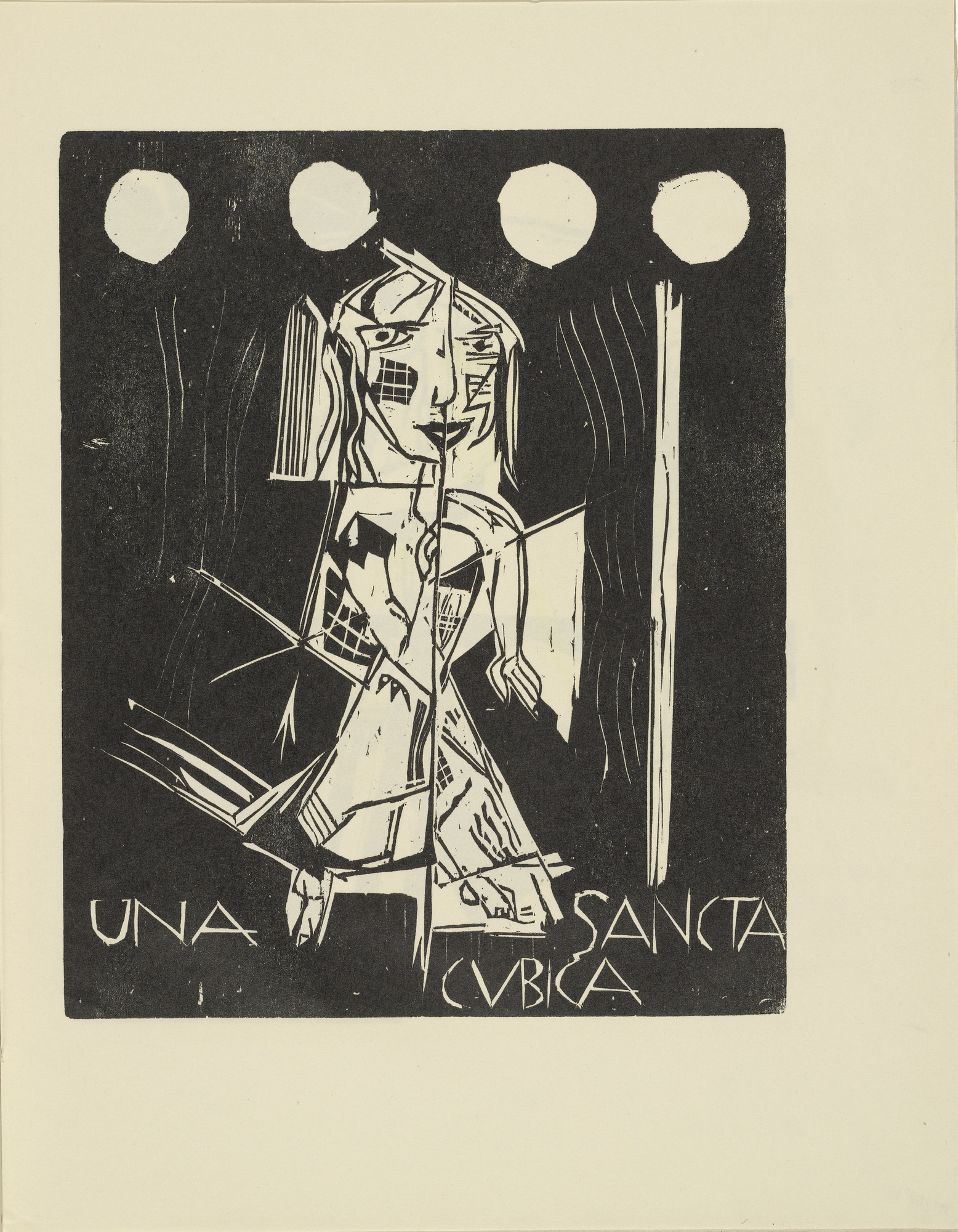 Siegfried Schott. Una Sancta Cubica (Una Sancta Cubica) from the periodical Kündung, vol. 1, no. 7, 8 (July, August 1921). 1921
