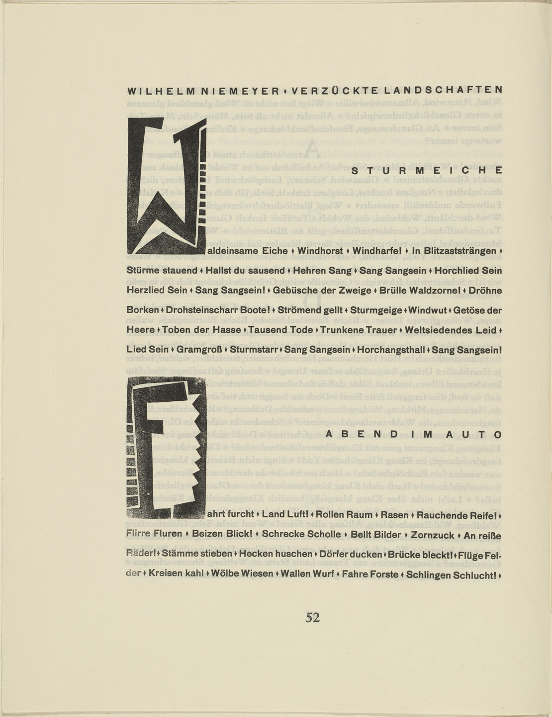 Karl Schmidt-Rottluff. Ornamental initial 'W' (Buchstabe 'W') from the periodical Kündung, vol. 1, no. 4, 5, 6 (April, May, June 1921)_ _. 1921 (executed 1920)