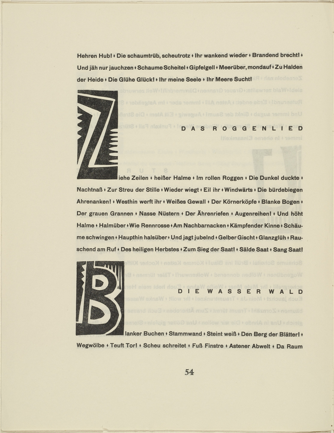Karl Schmidt-Rottluff. Ornamental initial 'Z' from the periodical Kündung, vol. 1, no. 4, 5, 6 (April, May, June 1921). 1921 (executed 1920)