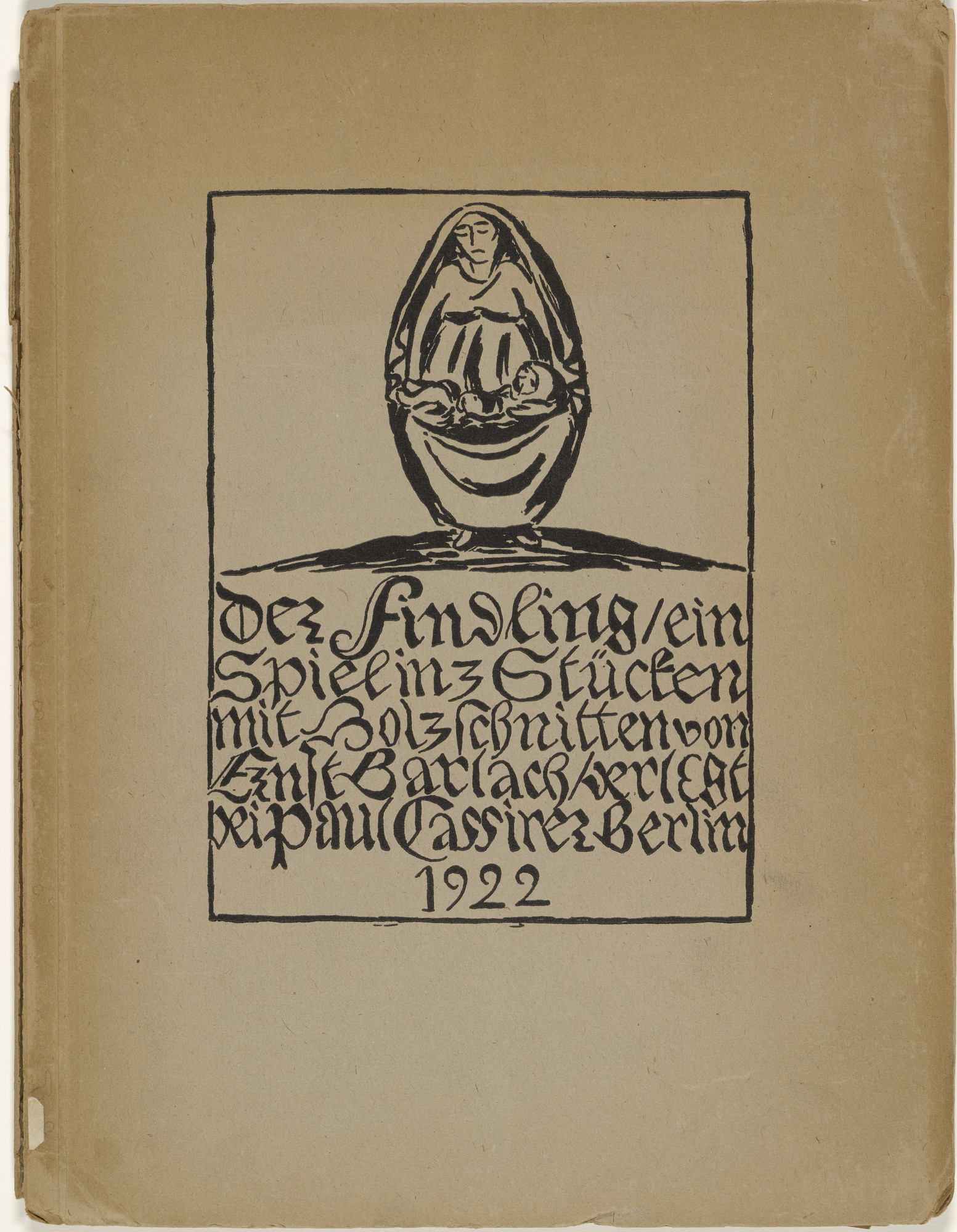Ernst Barlach. Der Findling (The Foundling). 1922 (prints executed 1921)
