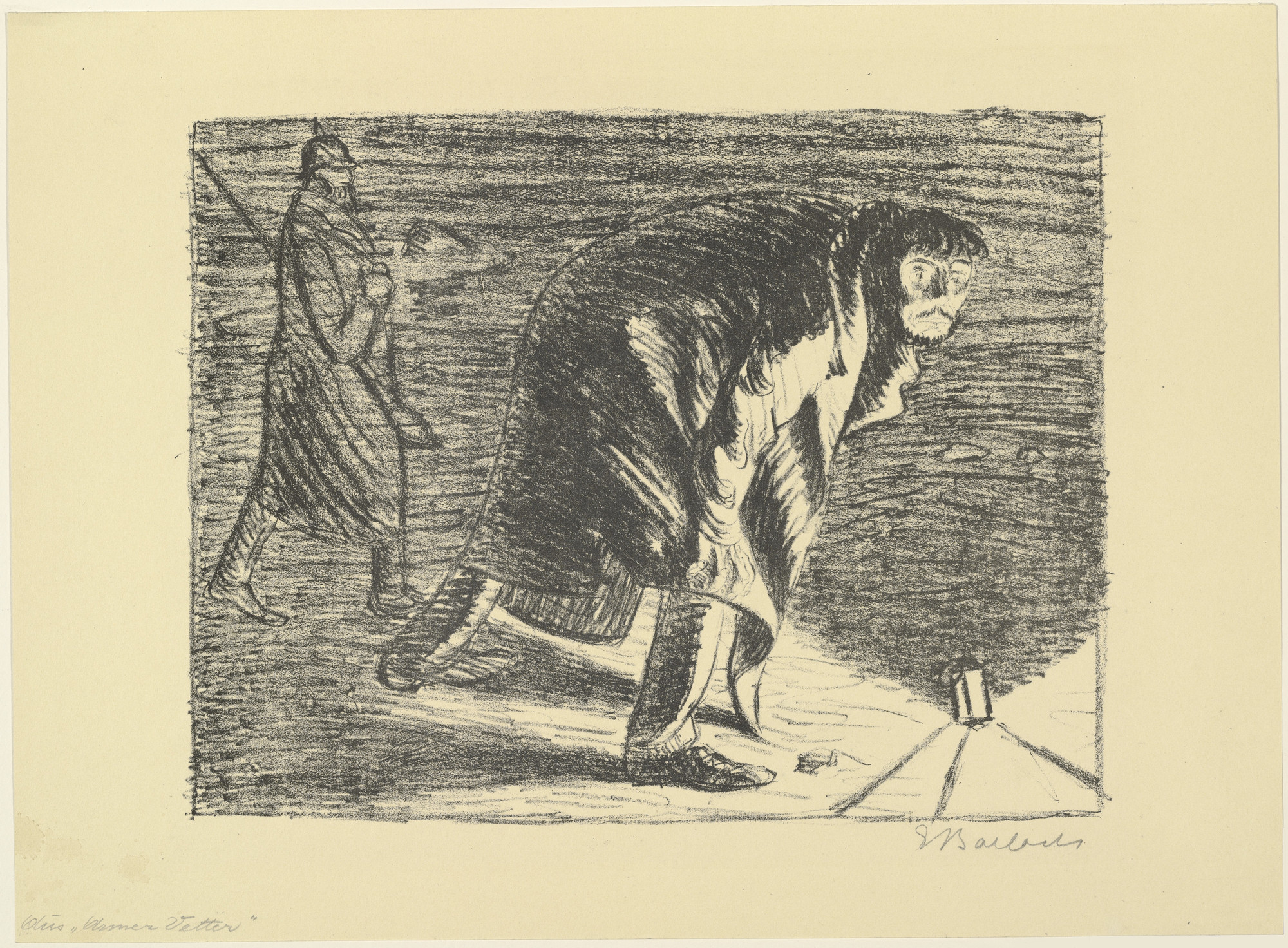 Ernst Barlach. Forlorn Light II (Verlorenes Licht II) from the portfolio The Poor Cousin (Der arme Vetter). (c. 1917, published 1919)