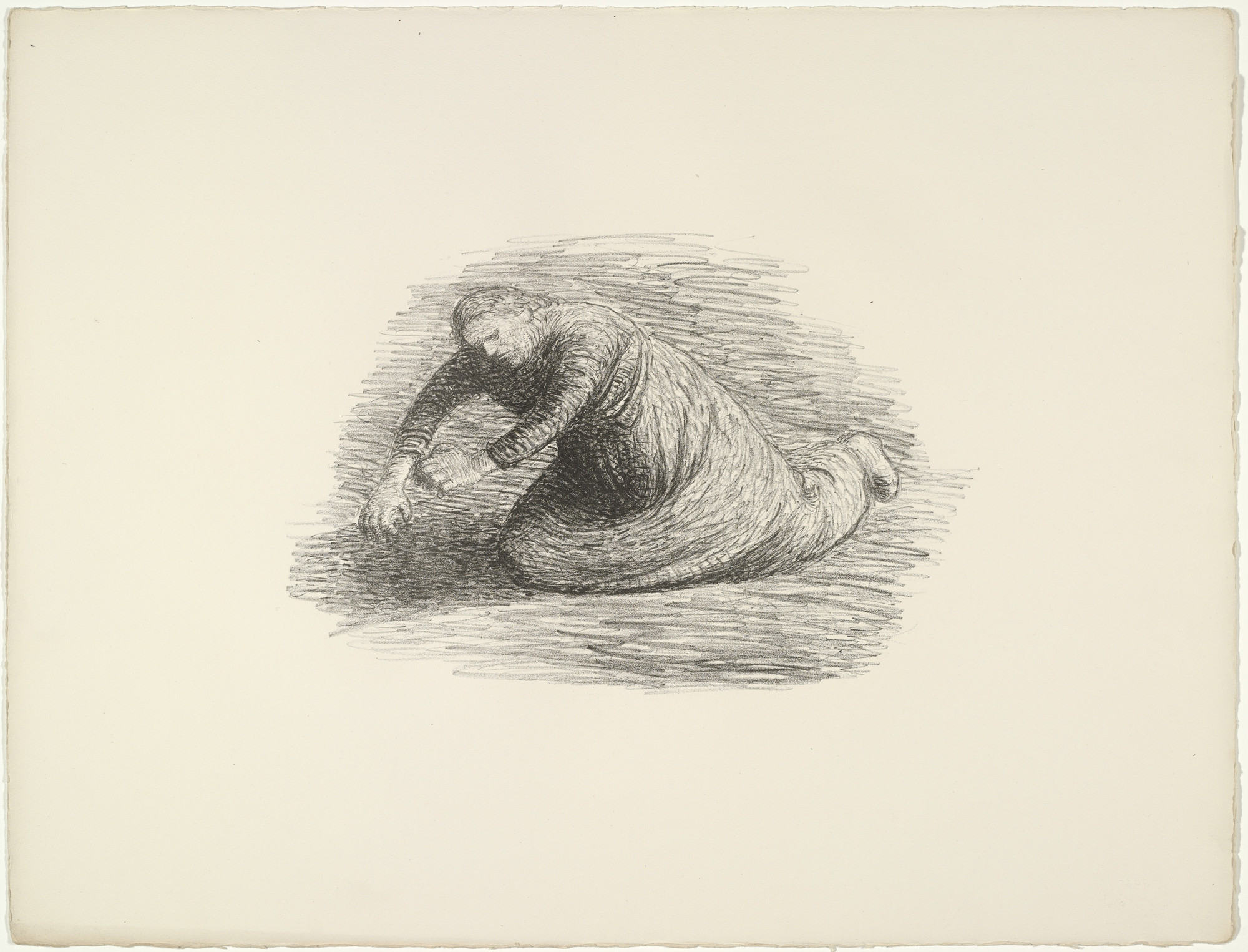 Ernst Barlach. The Bloodstain 1 (Der Blutflecken 1) from The Dead Day (Der tote Tag). (1910-11, published 1912)