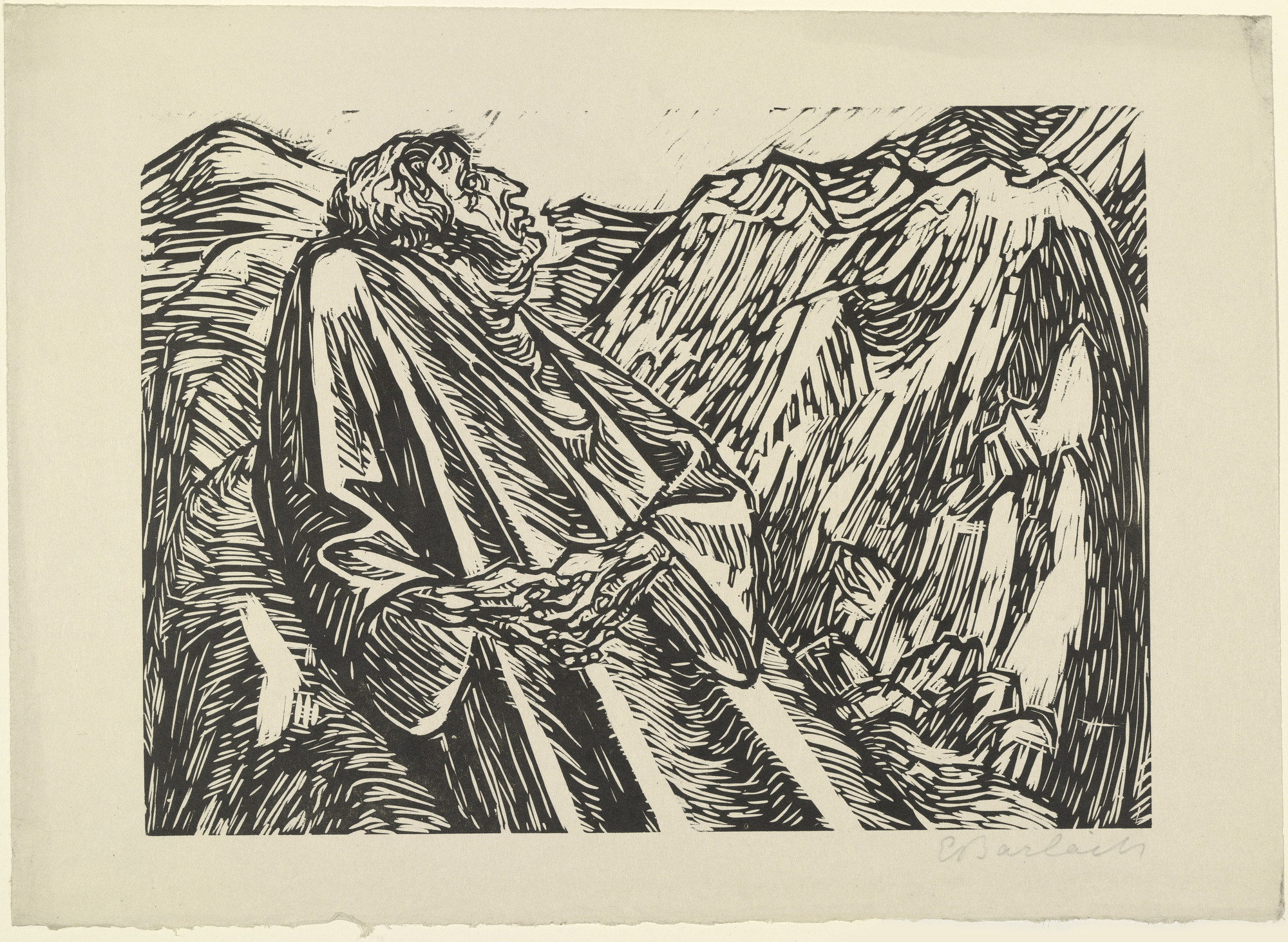 Ernst Barlach. The Rocks (Die Felsen) from The Transformations of God (Die Wandlungen Gottes). (1922, executed 1920-21)