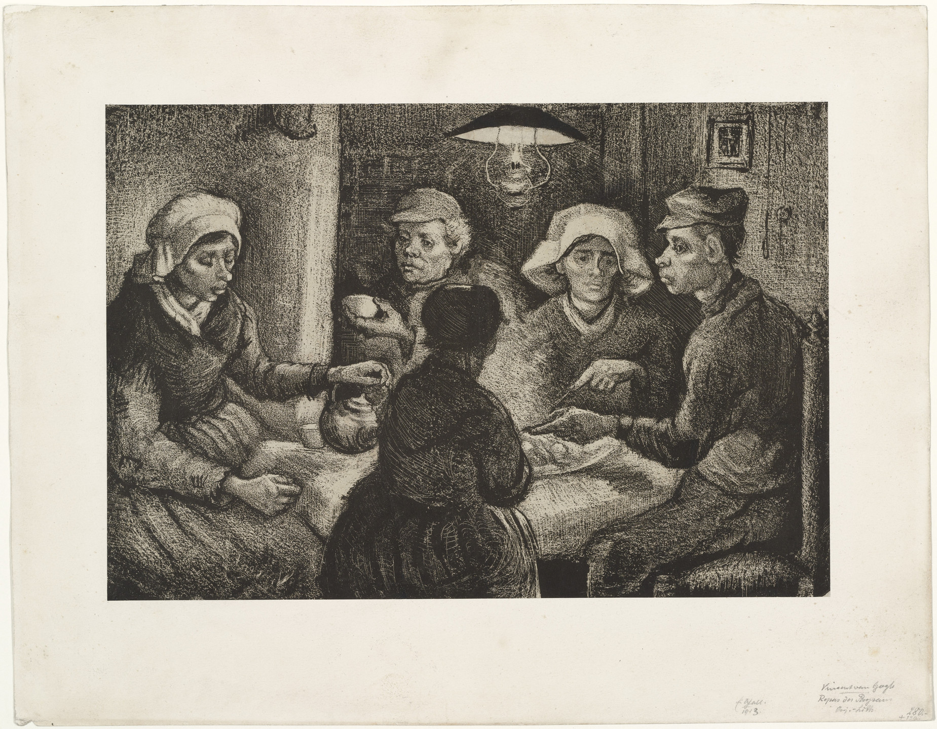 Vincent van Gogh. The Potato Eaters. (April, 1885)