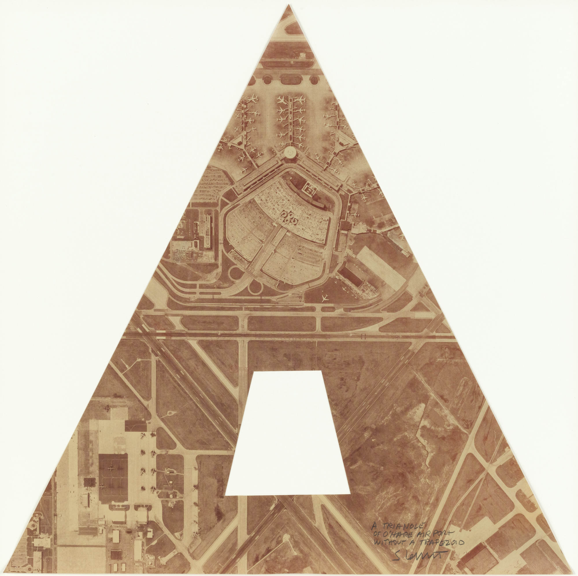 Sol LeWitt. A Triangle of O'Hare Airport without Trapezoid. 1979