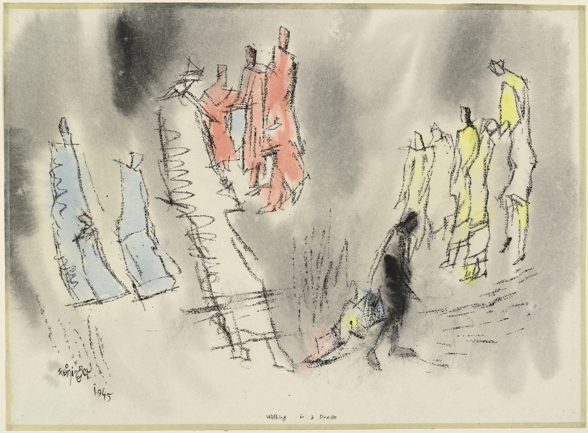Lyonel Feininger. Walking in a Dream. 1945