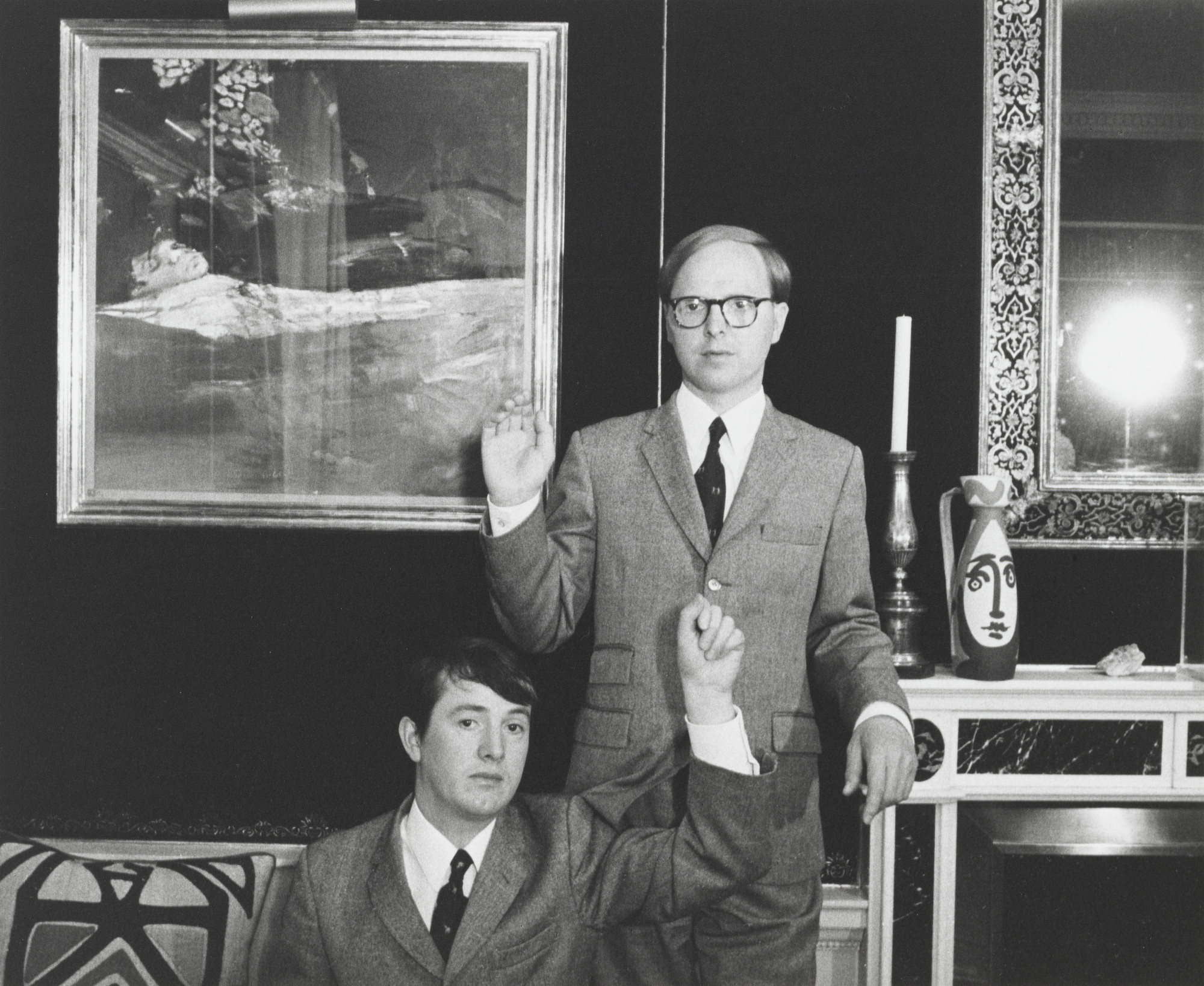 Cecil Beaton. Portrait of Gilbert & George at the Photographer's Home. 1974