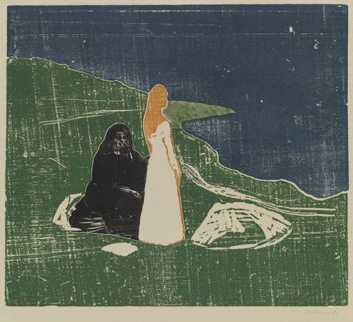 Edvard Munch. Two Women on the Shore (To kvinner ved stranden). 1898