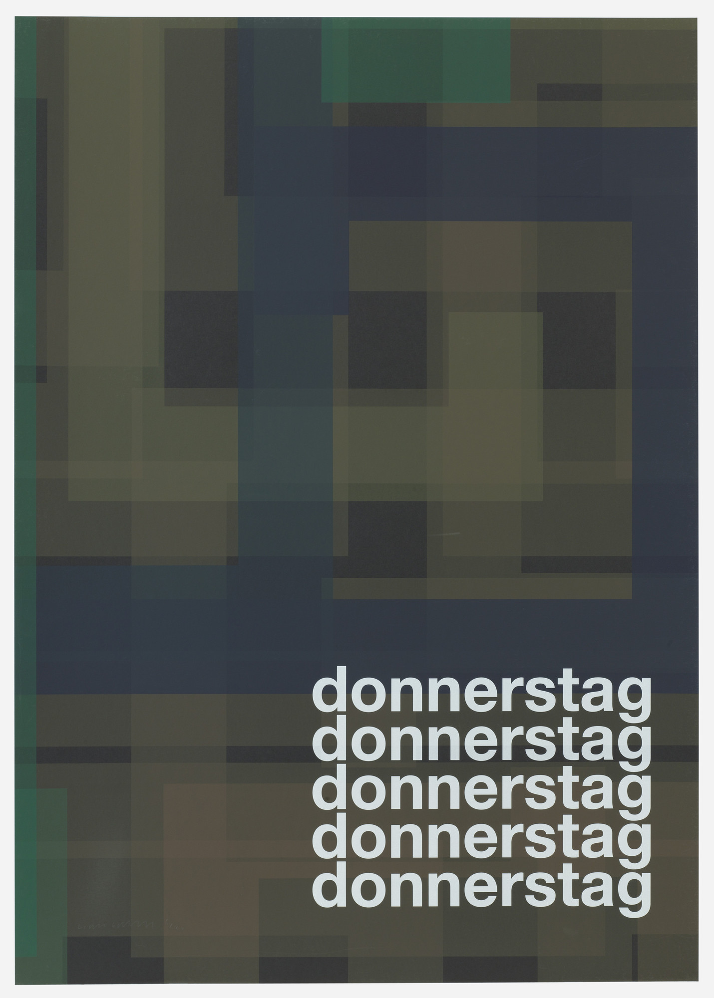 Liam Gillick. Donnerstag (Thursday) from Guide. 2004