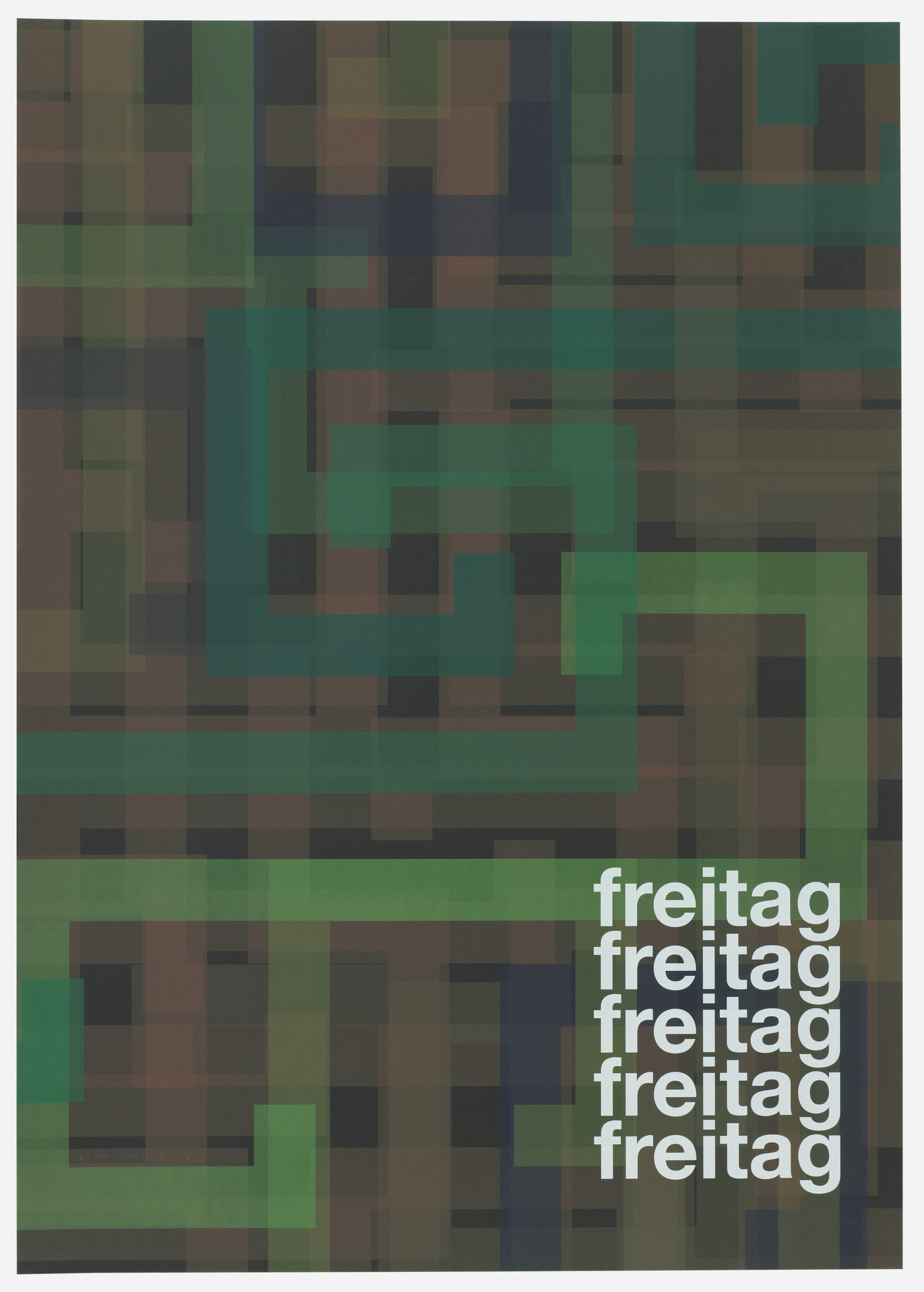 Liam Gillick. Freitag (Friday) from Guide. 2004