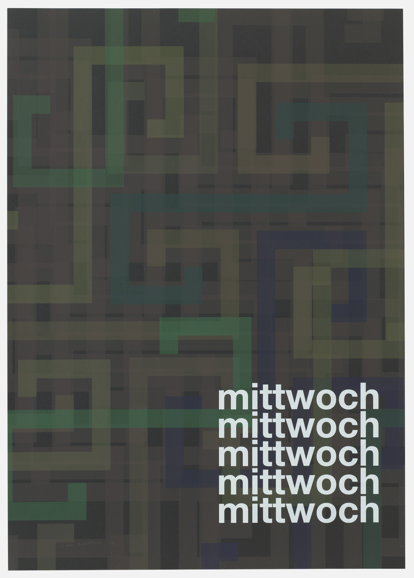 Liam Gillick. Mittwoch ( Wednesday) from Guide. 2004
