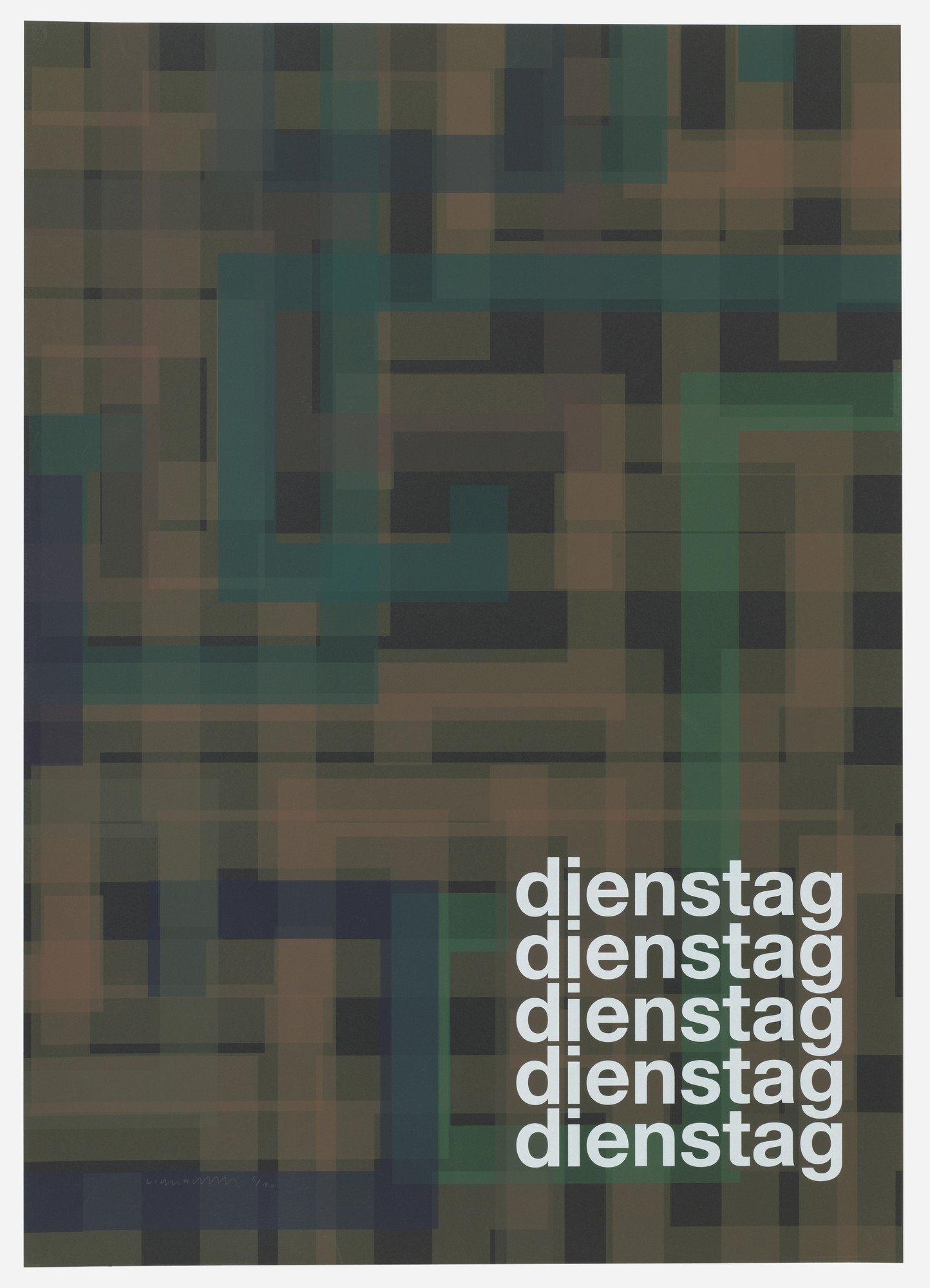 Liam Gillick. Dienstag (Tuesday) from Guide. 2004
