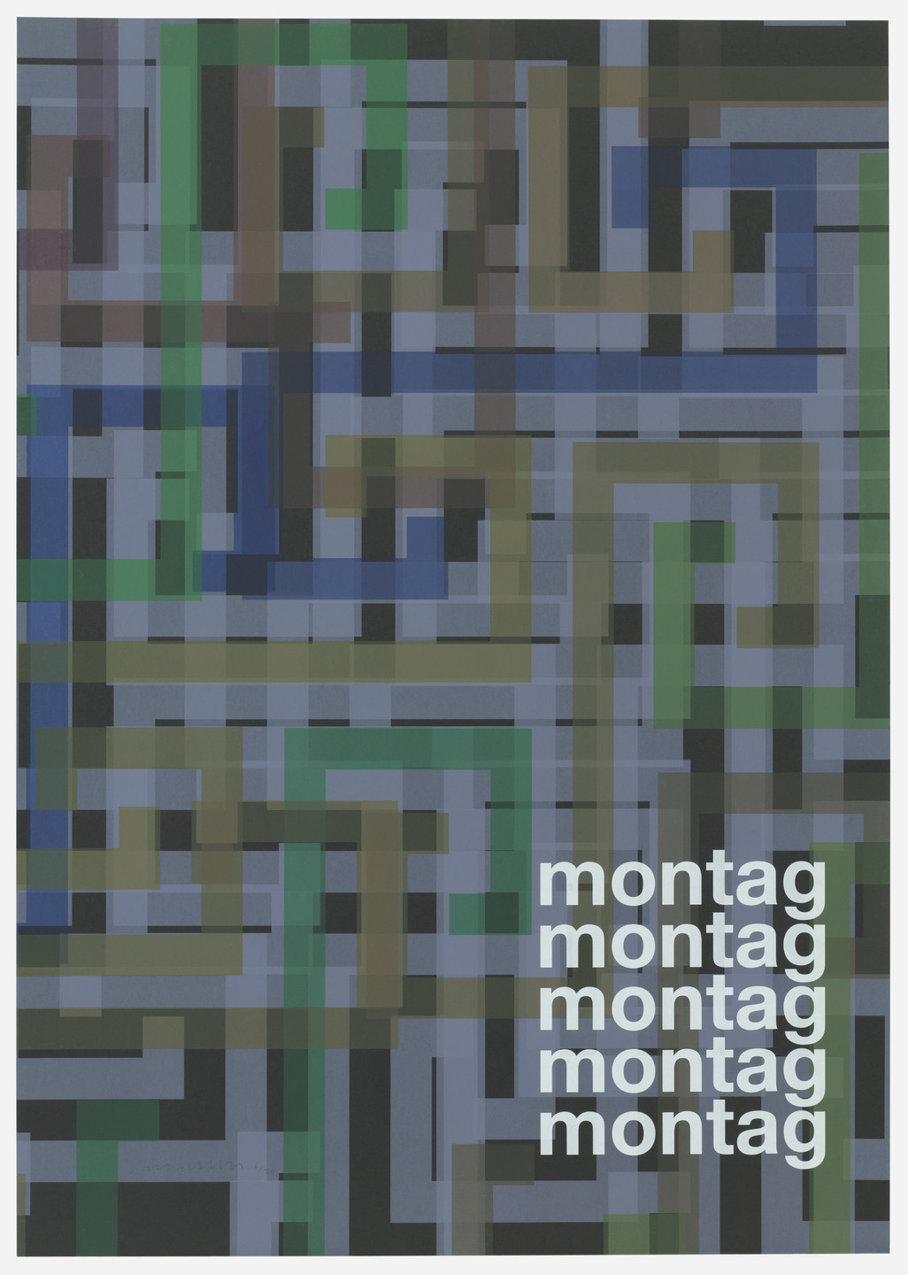 Liam Gillick. Montag (Monday) from Guide. 2004