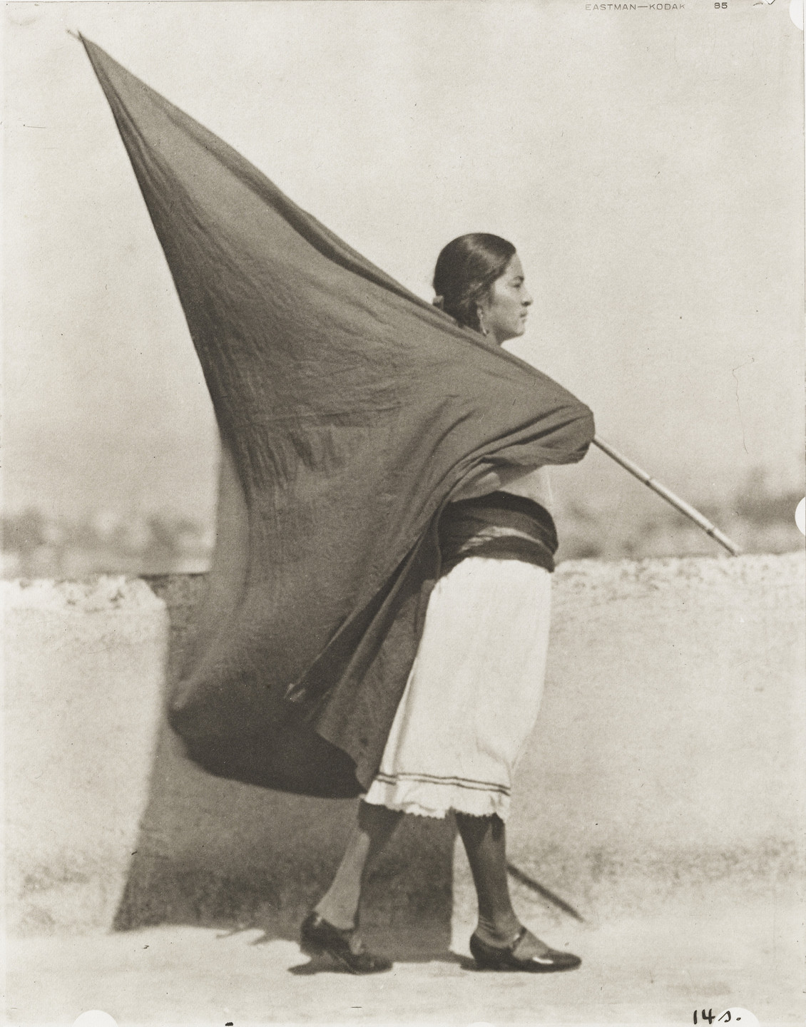 Tina Modotti. Woman with Flag. 1928