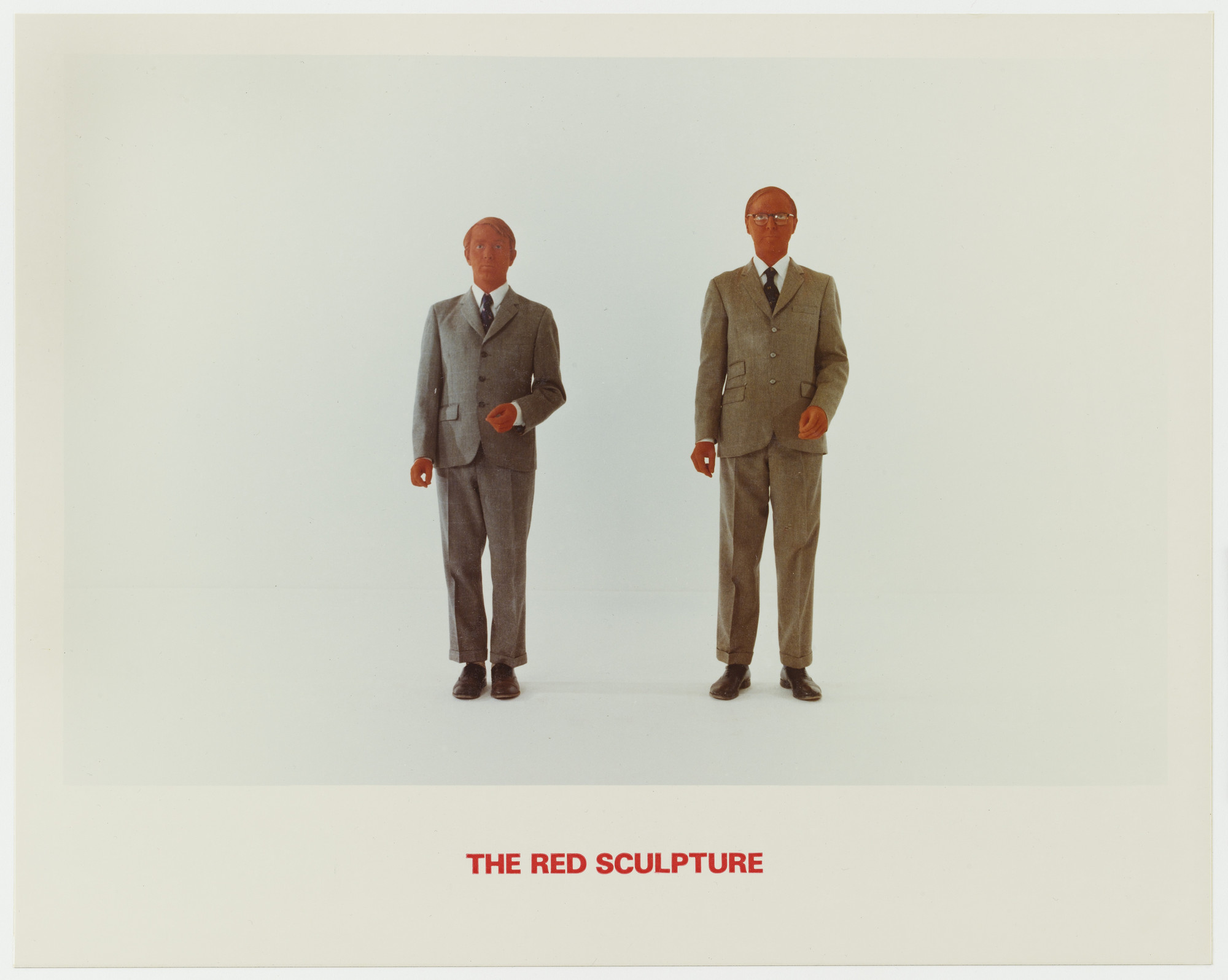 Gilbert & George. The Red Sculpture. 1975