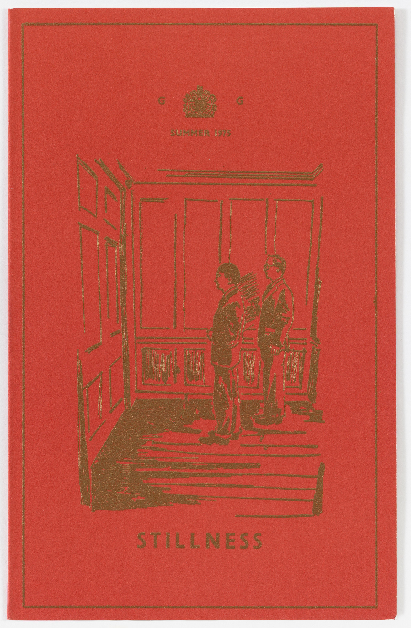 Gilbert & George, Gilbert Proesch, George Passmore. Stillness from The Red Boxers. 1975 (mailed 1976)