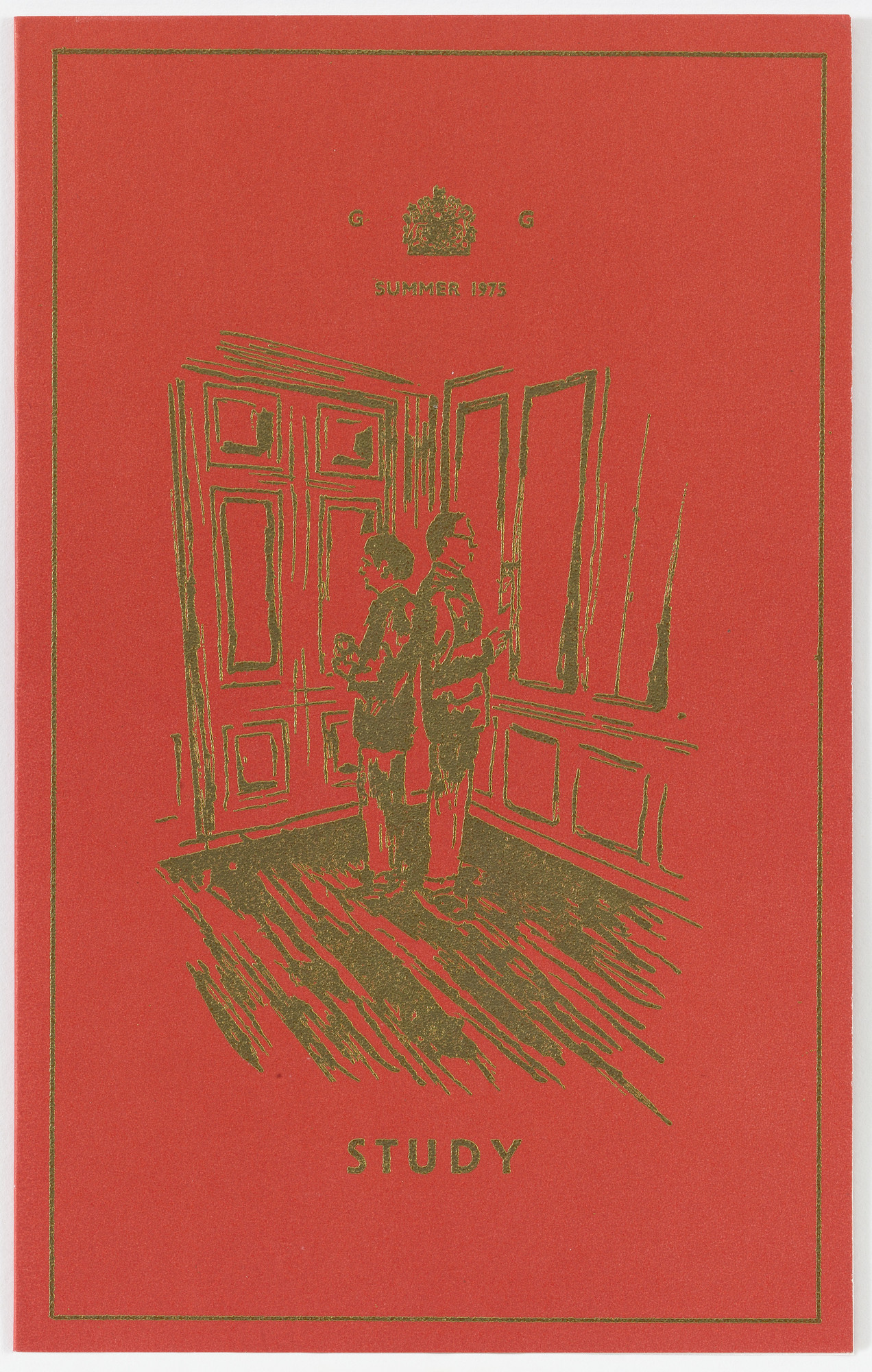 Gilbert & George, Gilbert Proesch, George Passmore. Study from The Red Boxers. 1975 (mailed 1976)