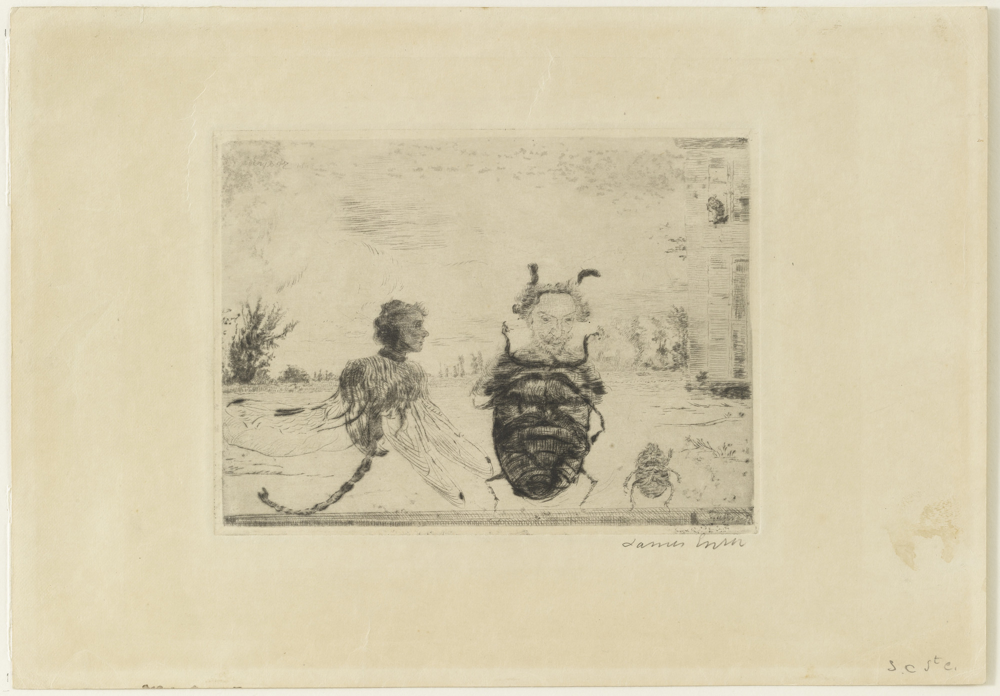 James Ensor. Peculiar Insects, state V. 1888