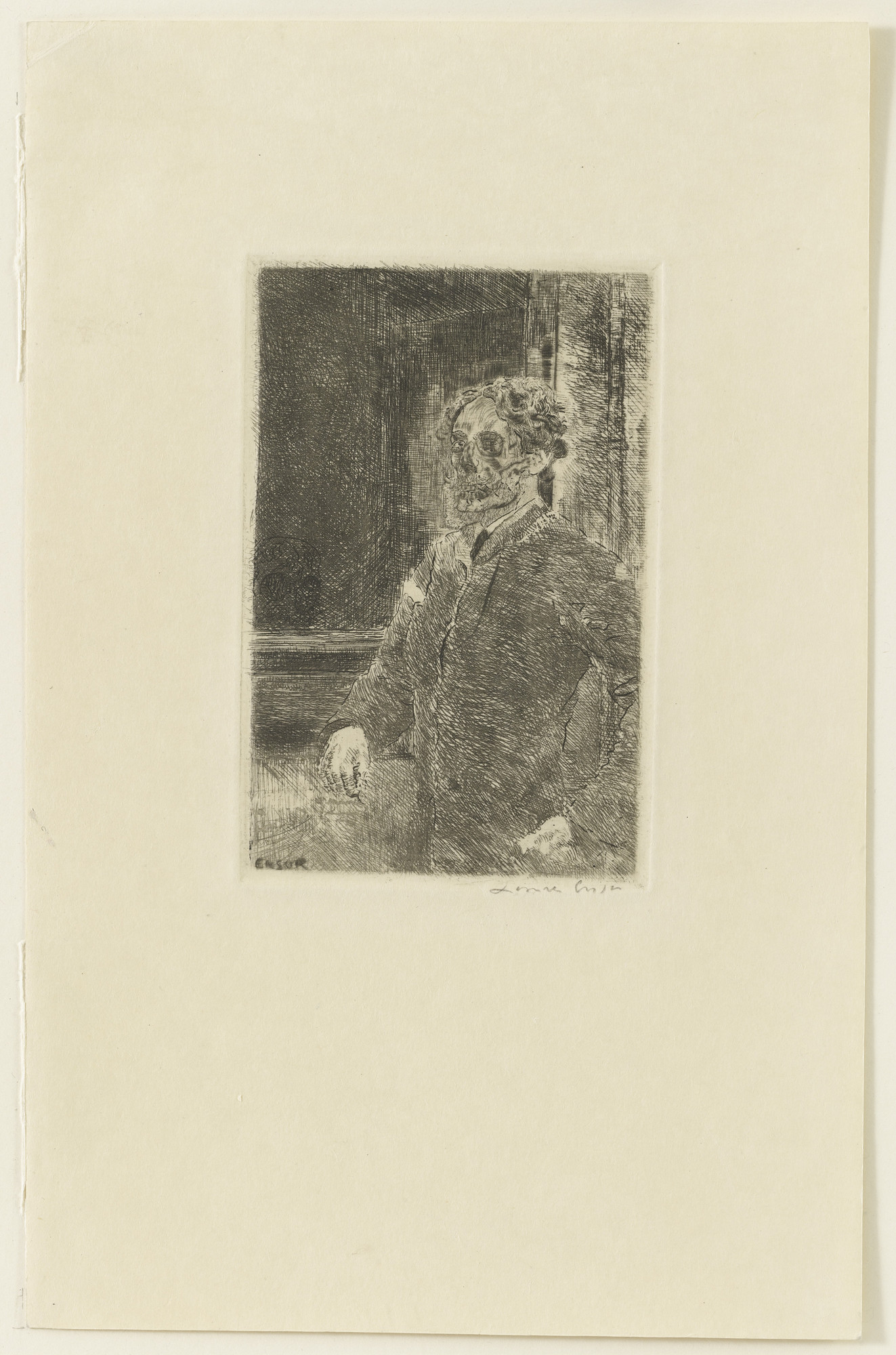 James Ensor. My Portrait as a Skeleton (Mon portrait squelettisé), state III. 1889