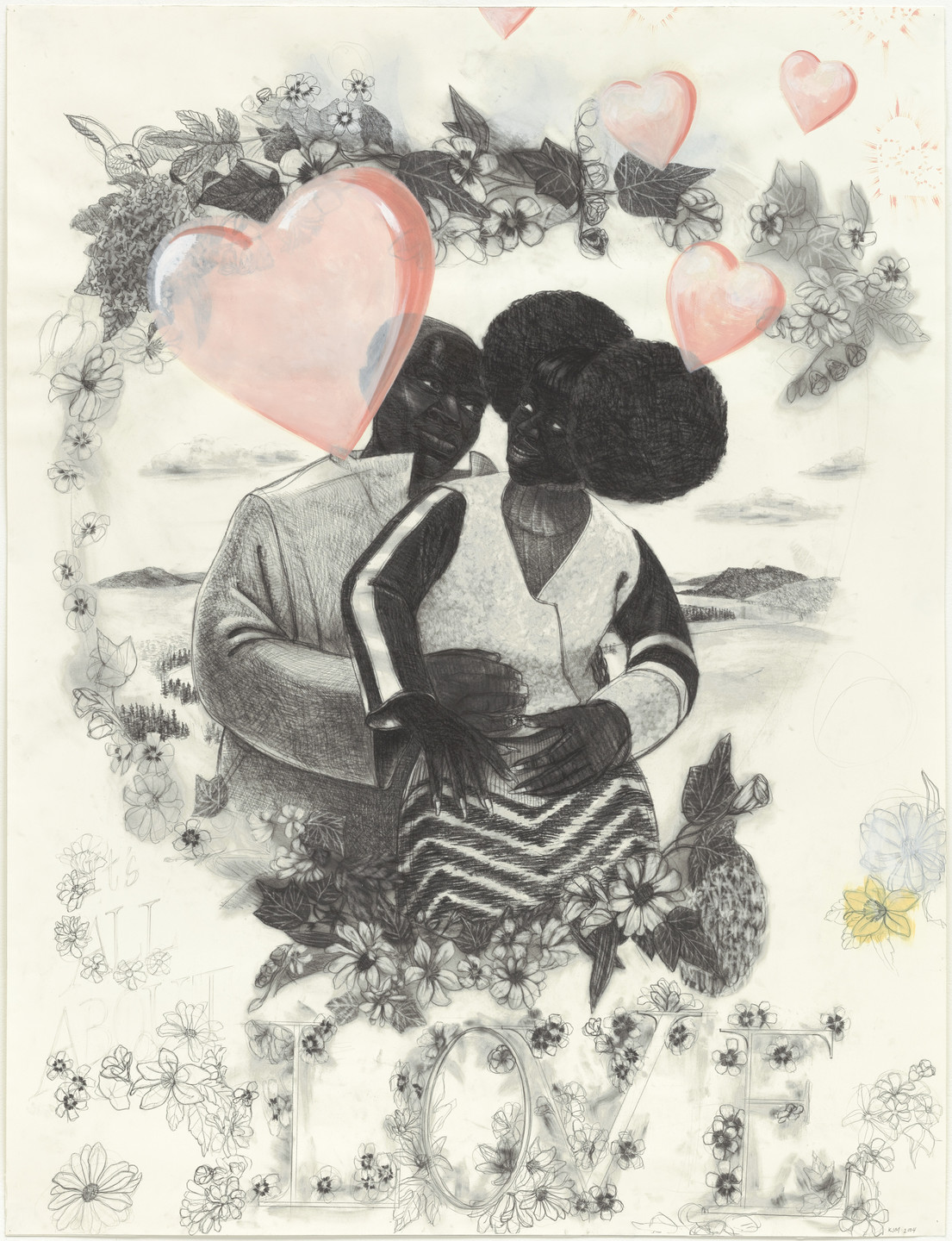 Kerry James Marshall. Study for Vignette. 2004