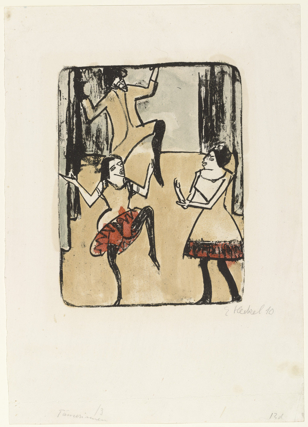 Erich Heckel. Dancers (Tänzerinnen). 1911, dated 1910