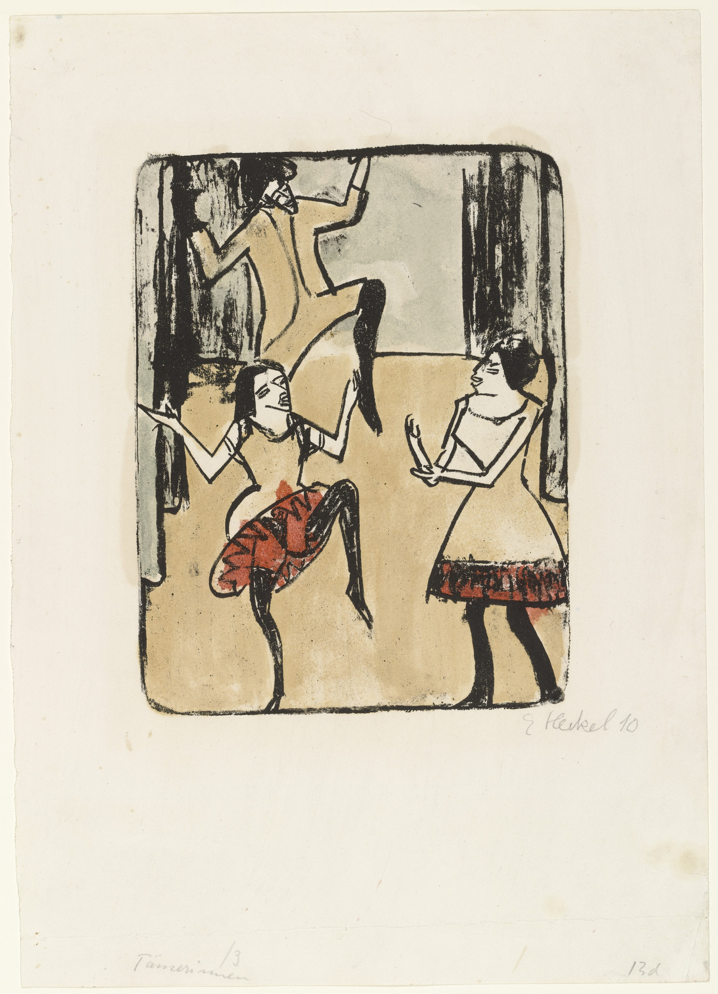 Erich Heckel. Dancers (Tänzerinnen). (1911), dated 1910