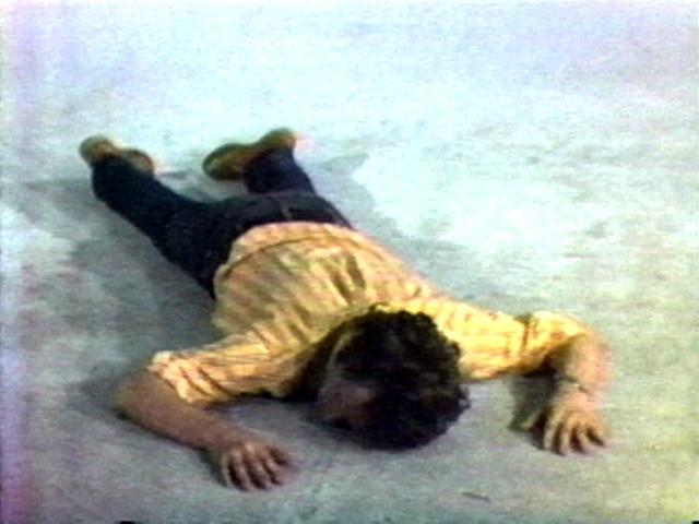 Bruce Nauman. Tony Sinking into the Floor, Face Up, and Face Down. 1973