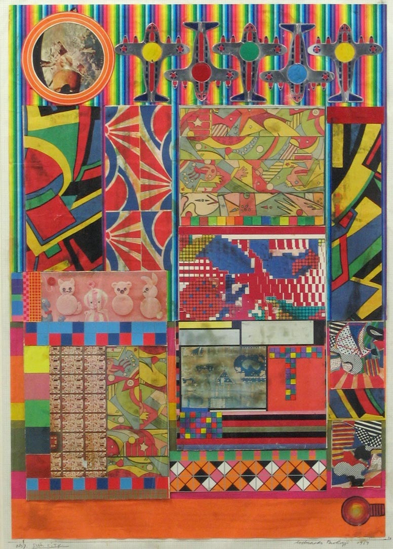 Eduardo Paolozzi. No 7 Sun City, collage study for Universal Electronic Vacuum. 1967